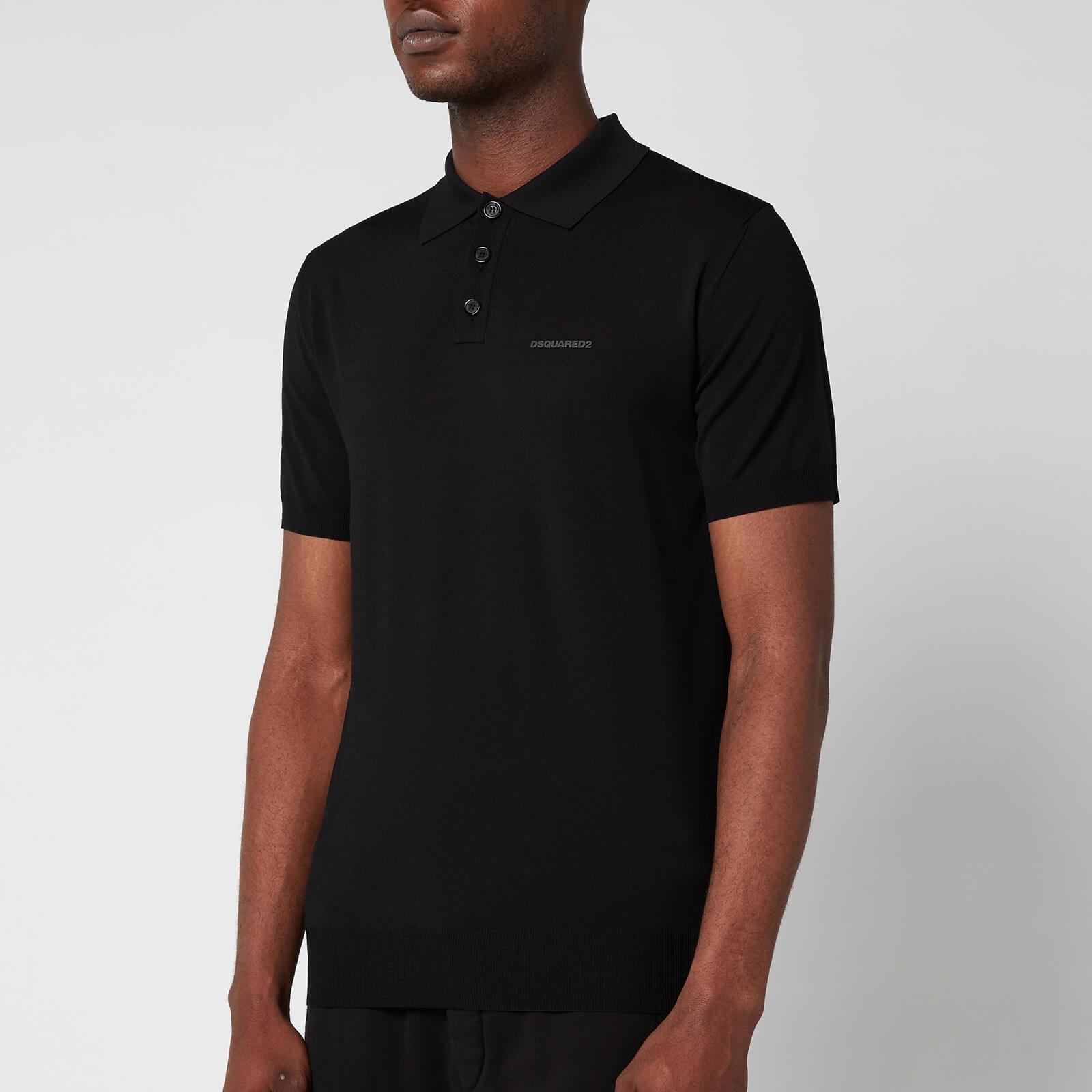 Dsquared2 Men's Big Logo Polo Shirt - Black - M