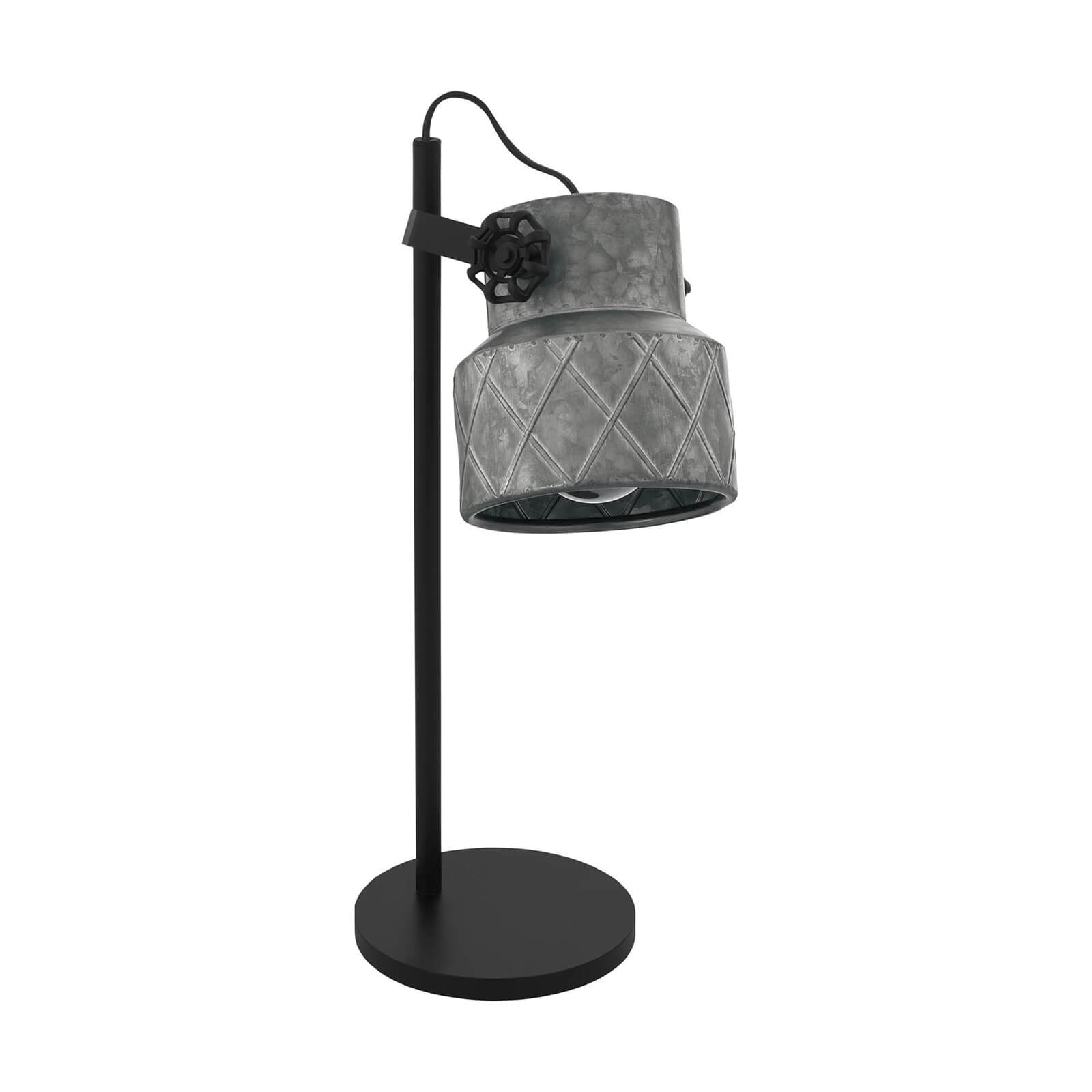 Eglo Hilcott Industrial Black and Grey Table Lamp