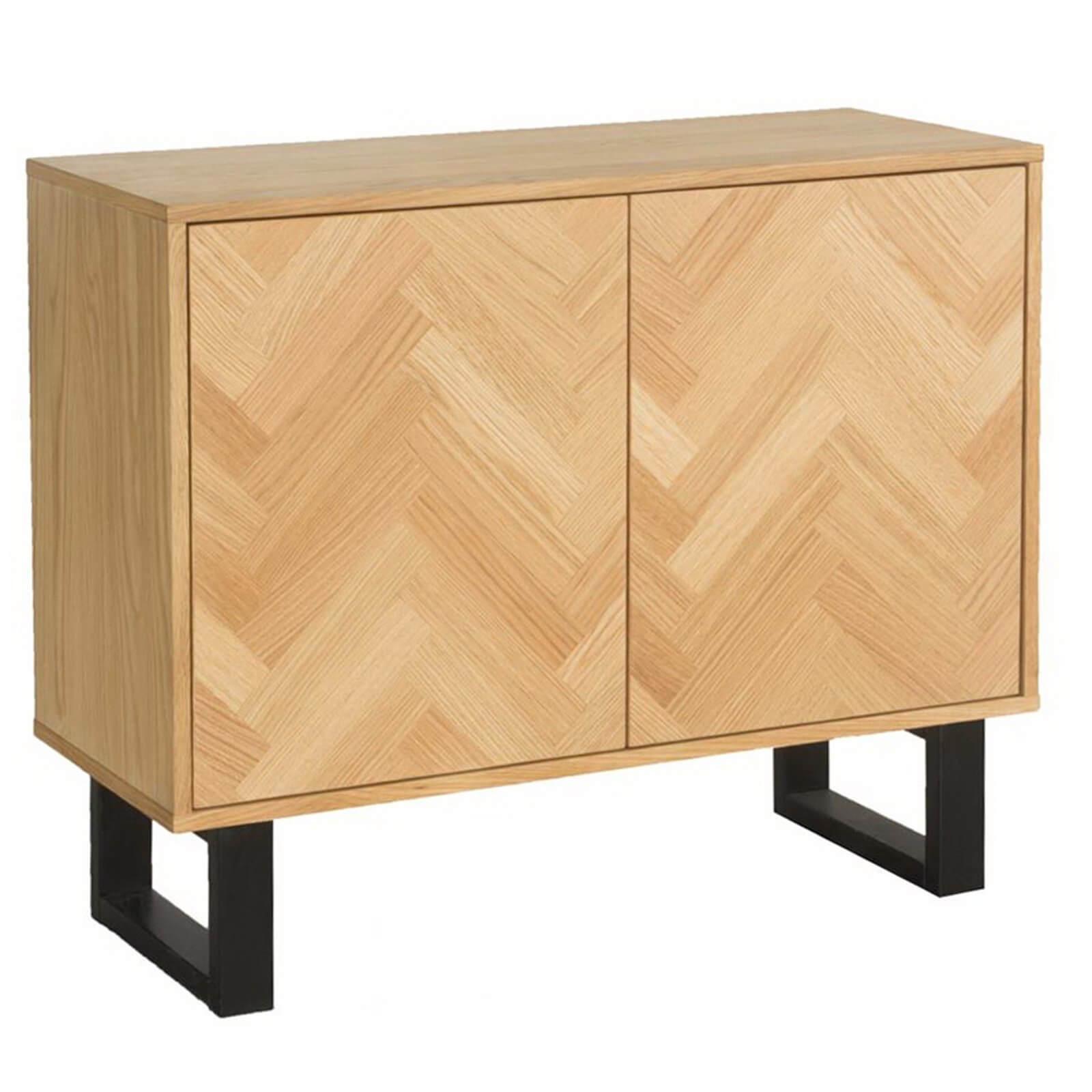 Skelby Herringbone Oak Sideboard
