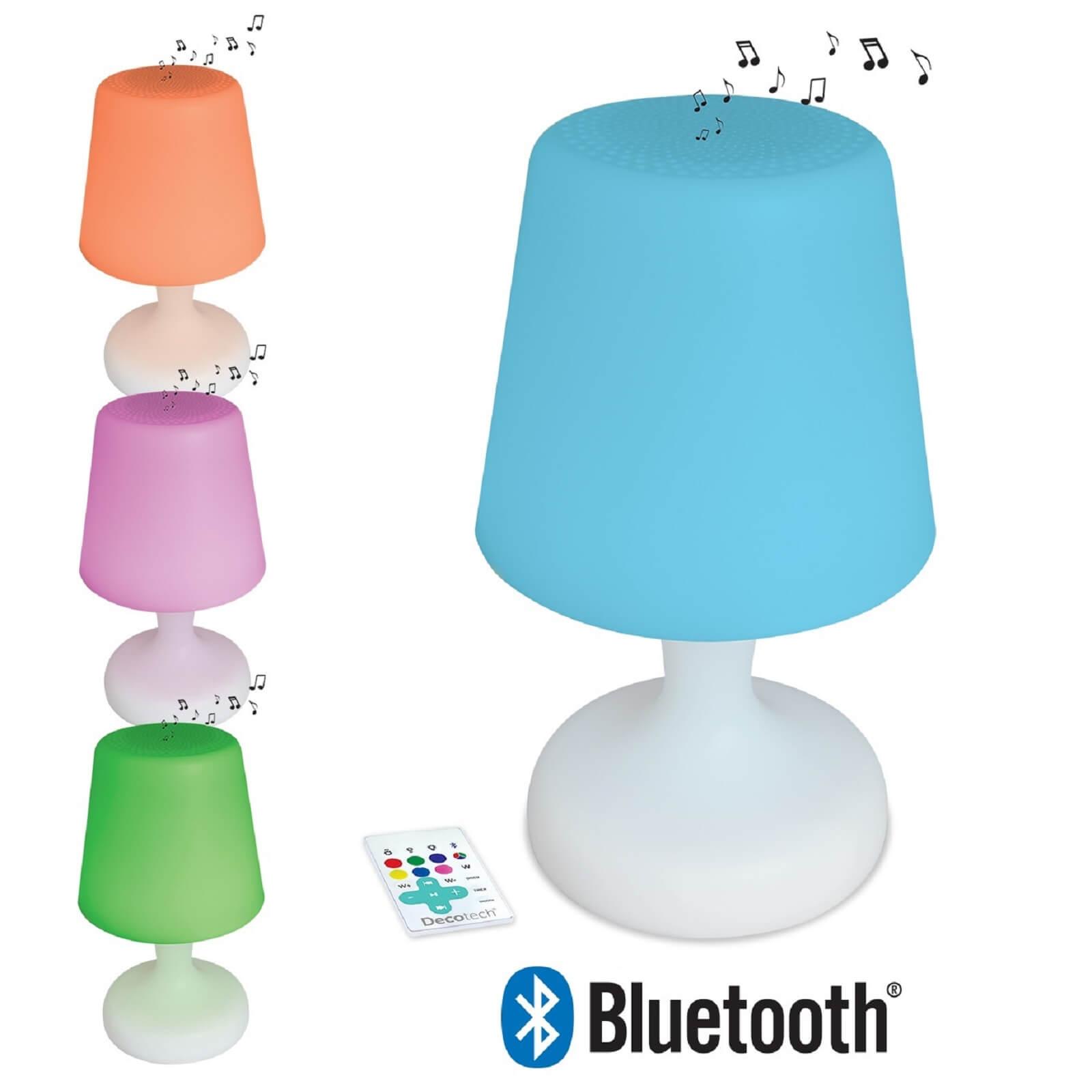 Decotech Bluetooth Colour & Sound LED Table Lamp
