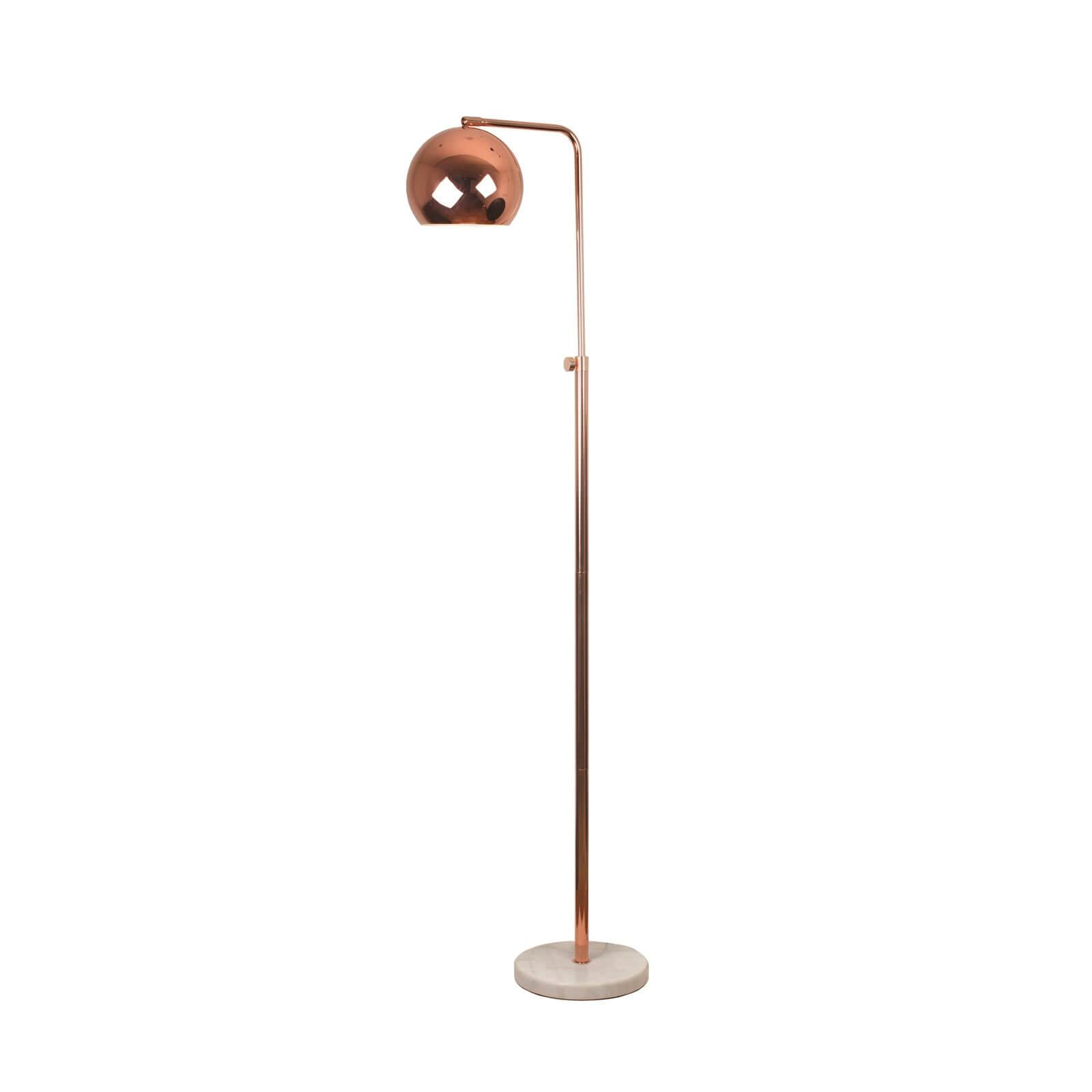 Evan Marble and Copper Effect Floor Lamp