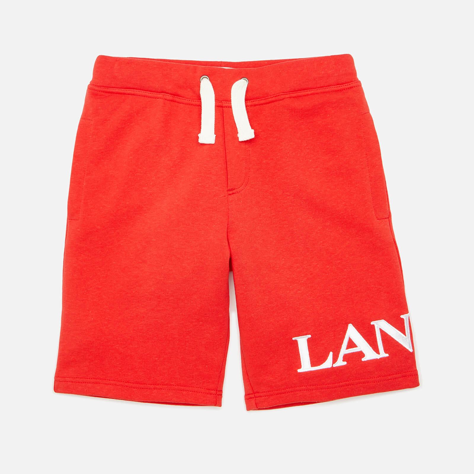 Lanvin Boys' Logo Shorts - Bright Red - 6 Years