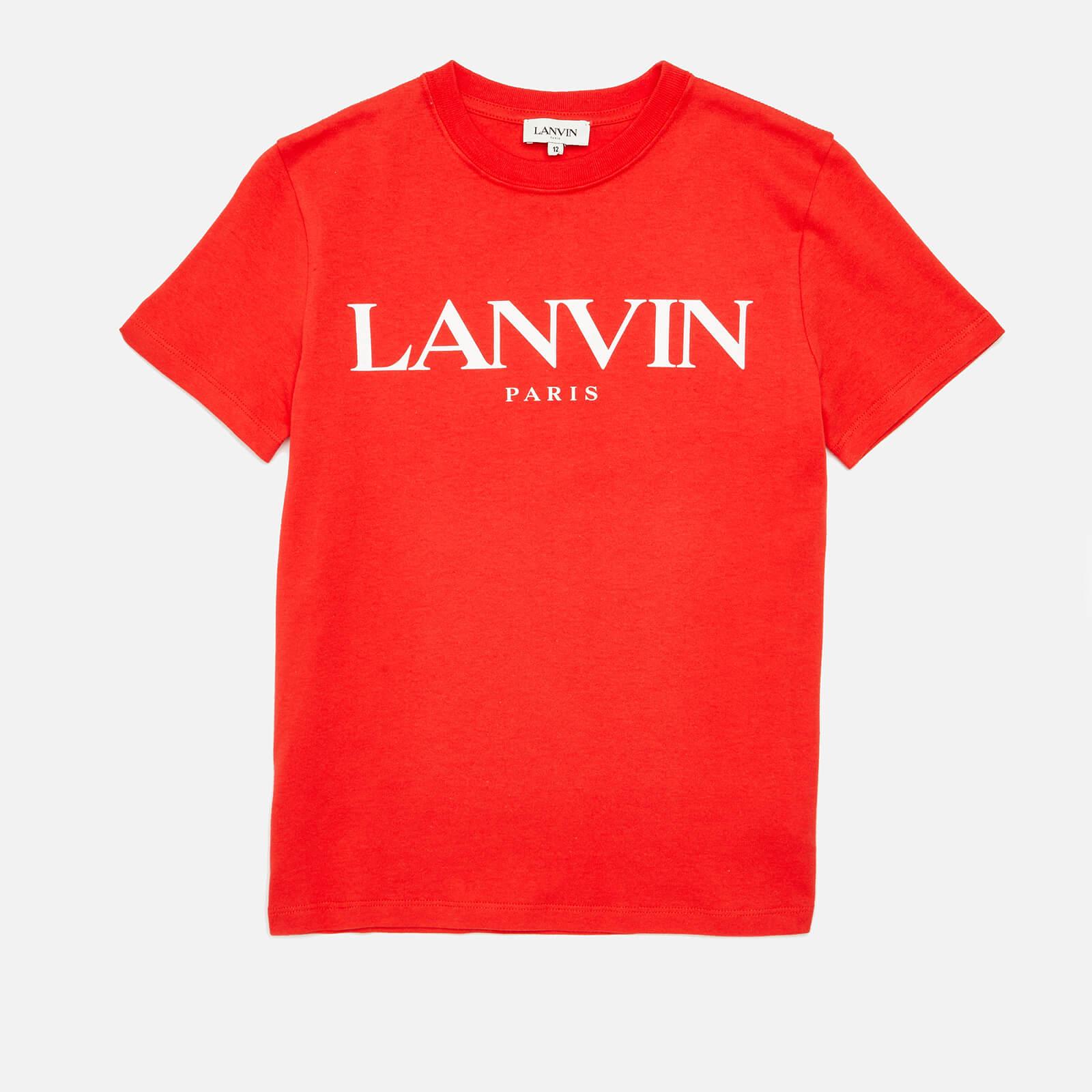 Lanvin Boys' Logo T-Shirt - Bright Red - 8 Years