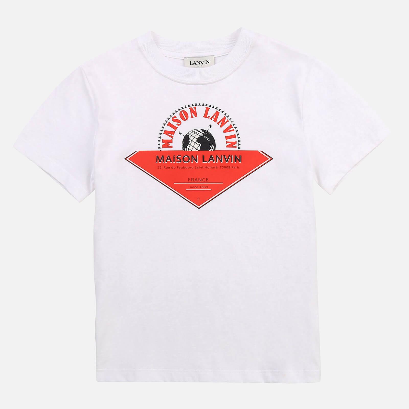 Lanvin Boys' Maison T-Shirt - White - 6 Years