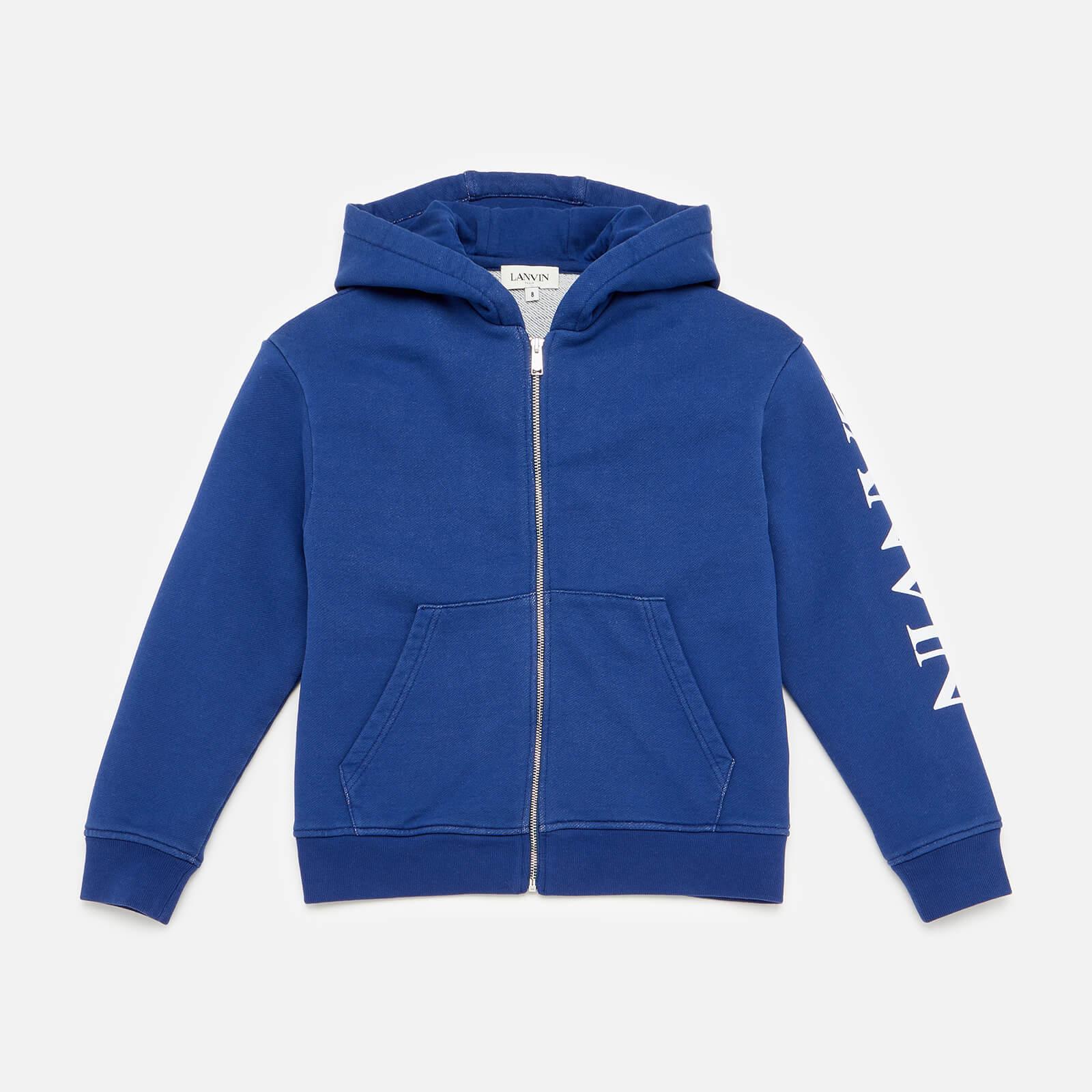 Lanvin Boys' Hooded Zip Cardigan - Denim Blue - 4 Years