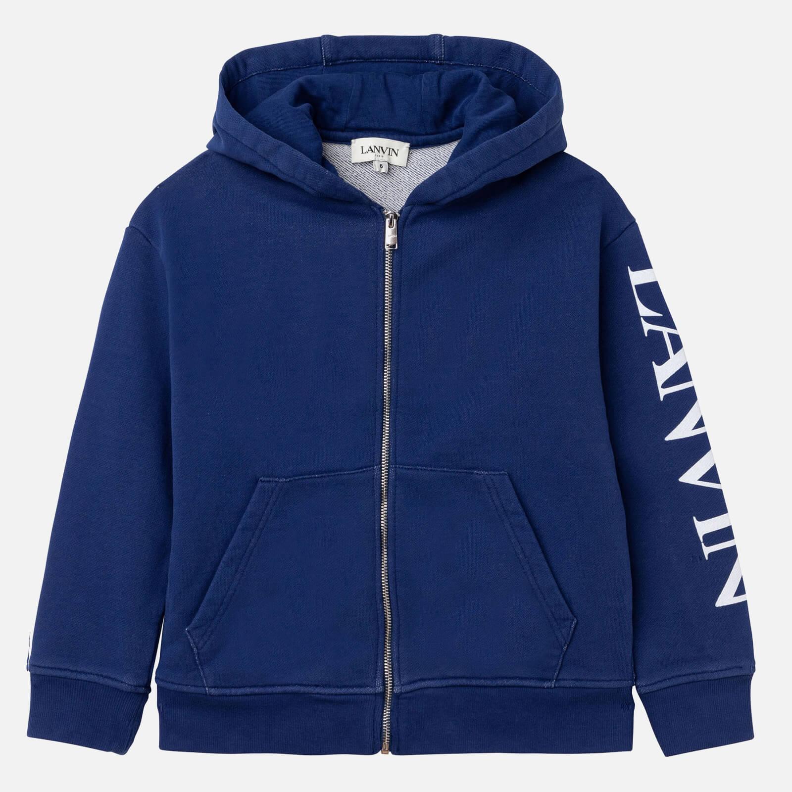 Lanvin Boys' Hooded Zip Cardigan - Denim Blue - 5 Years
