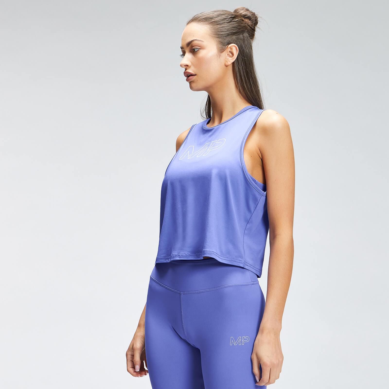 Купить MP Women's Repeat Mark Graphic Training Crop Vest - Bluebell - XXS, Myprotein International