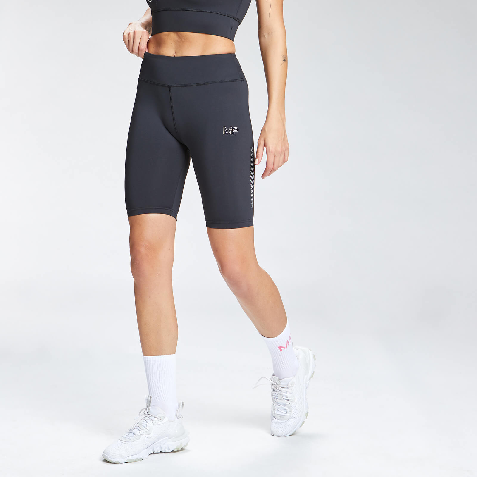 Купить MP Women's Repeat Mark Graphic Training Cycling Shorts - Black - XXS, Myprotein International