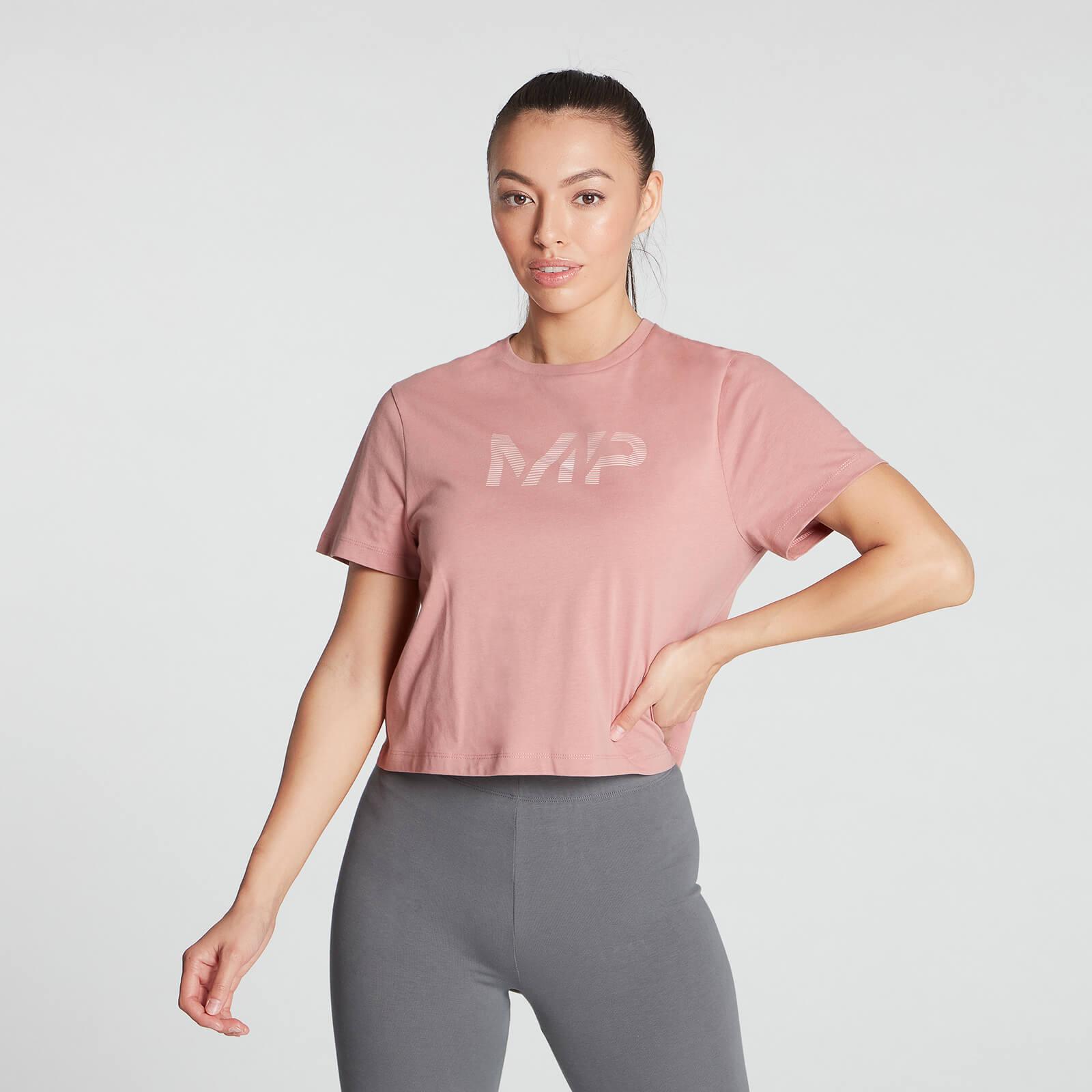 Купить MP Women's Gradient Line Graphic Crop T-shirt- Pink - XXL, Myprotein International