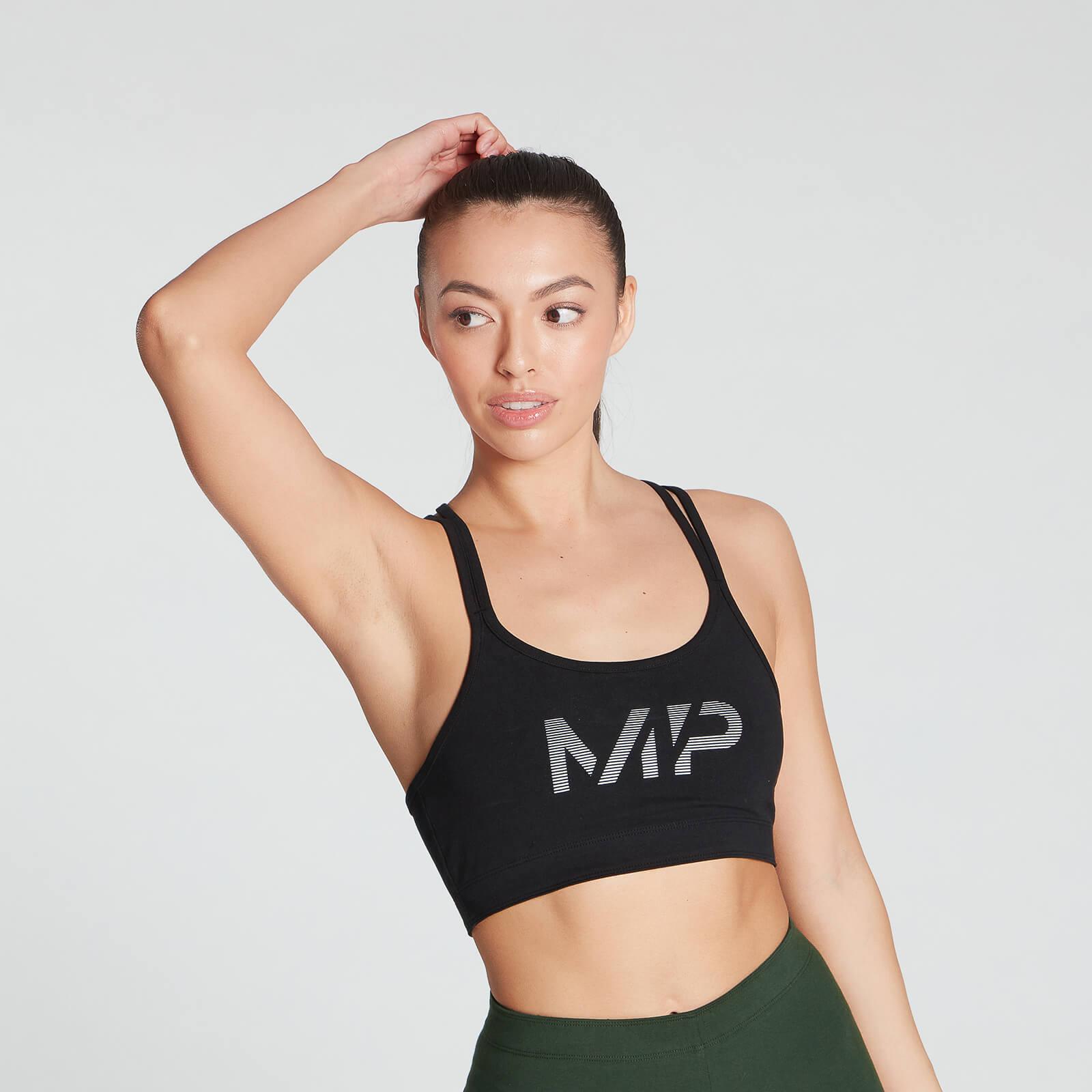 Купить MP Women's Gradient Line Graphic Sports Bra - Black - XXS, Myprotein International