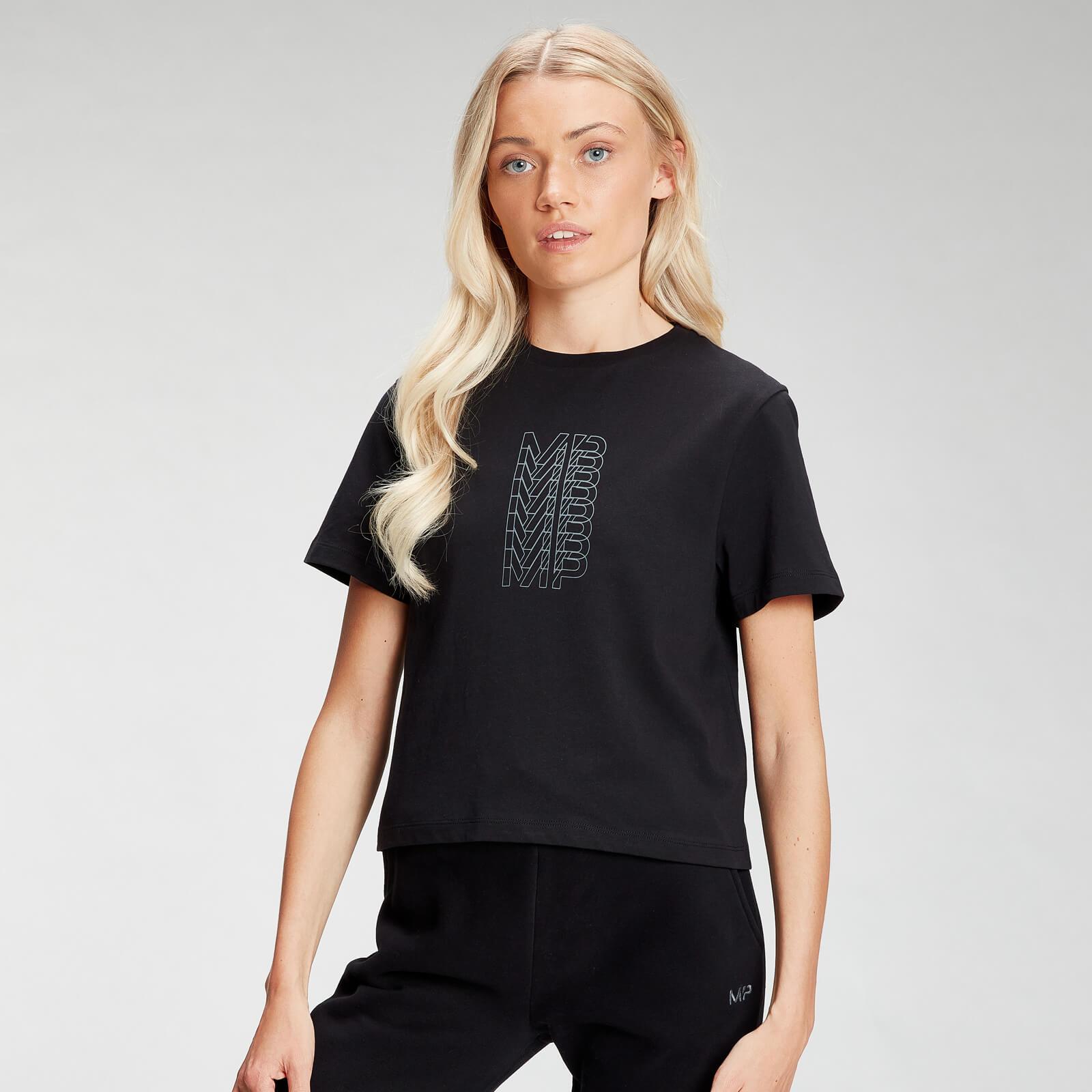 Купить MP Women's Repeat MP Crop T-Shirt - Black - XXL, Myprotein International