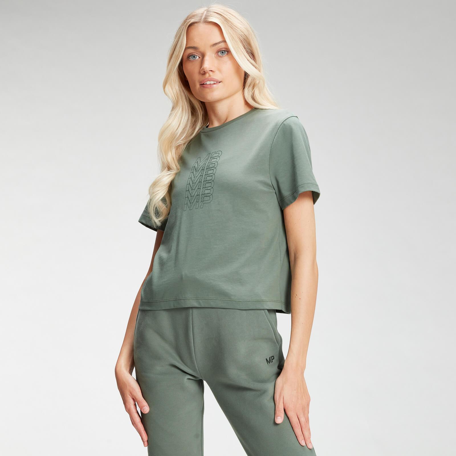 Купить MP Women's Repeat MP Crop T-Shirt - Cactus - XXL, Myprotein International