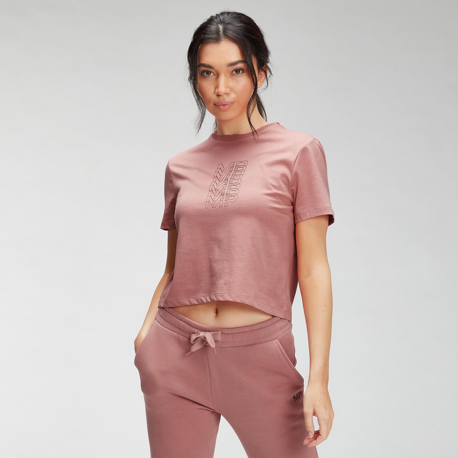 Купить MP Women's Repeat MP Crop T-Shirt - Dust Pink - XXL, Myprotein International