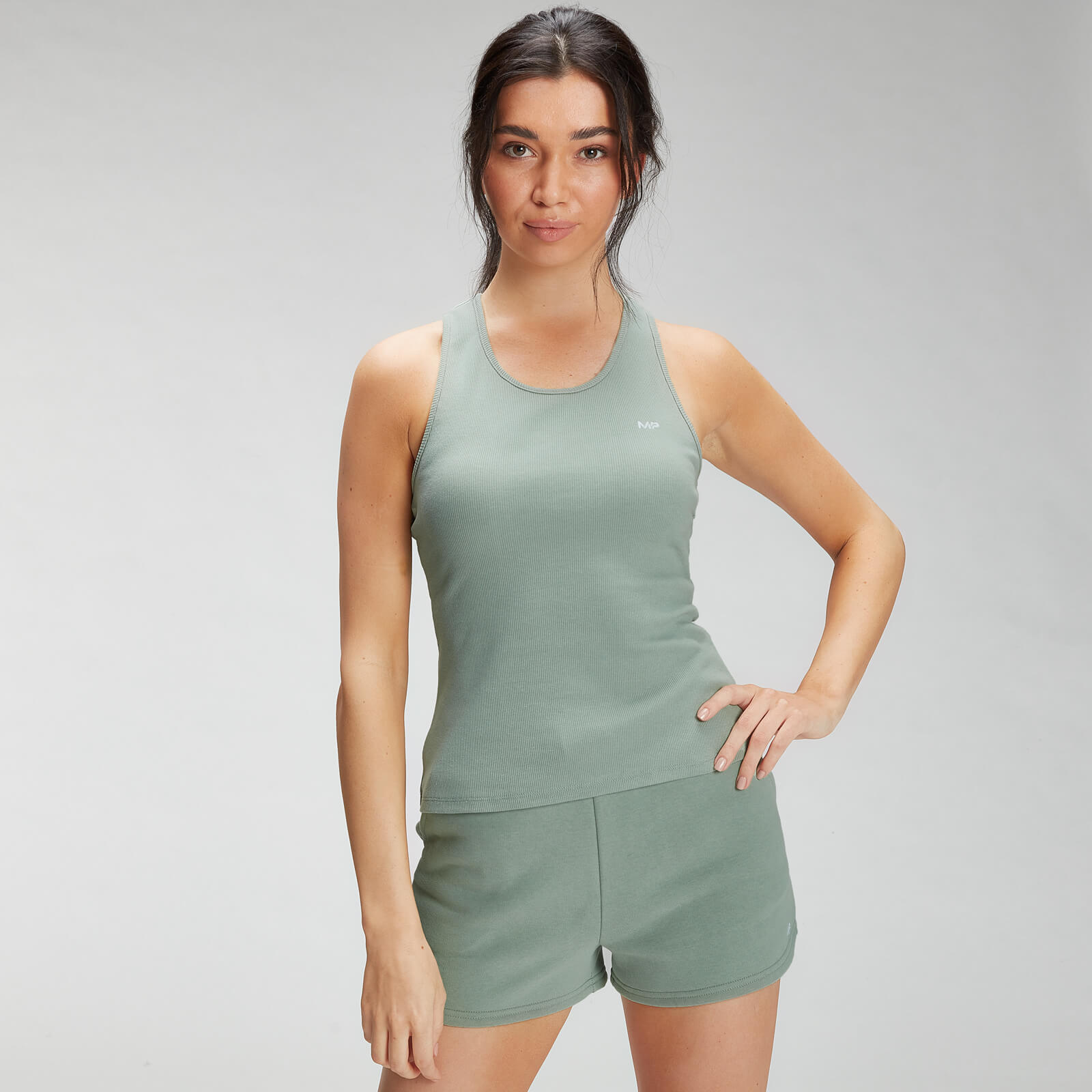 Купить MP Women's Essential Rib Vest - Pale Green - XXL, Myprotein International