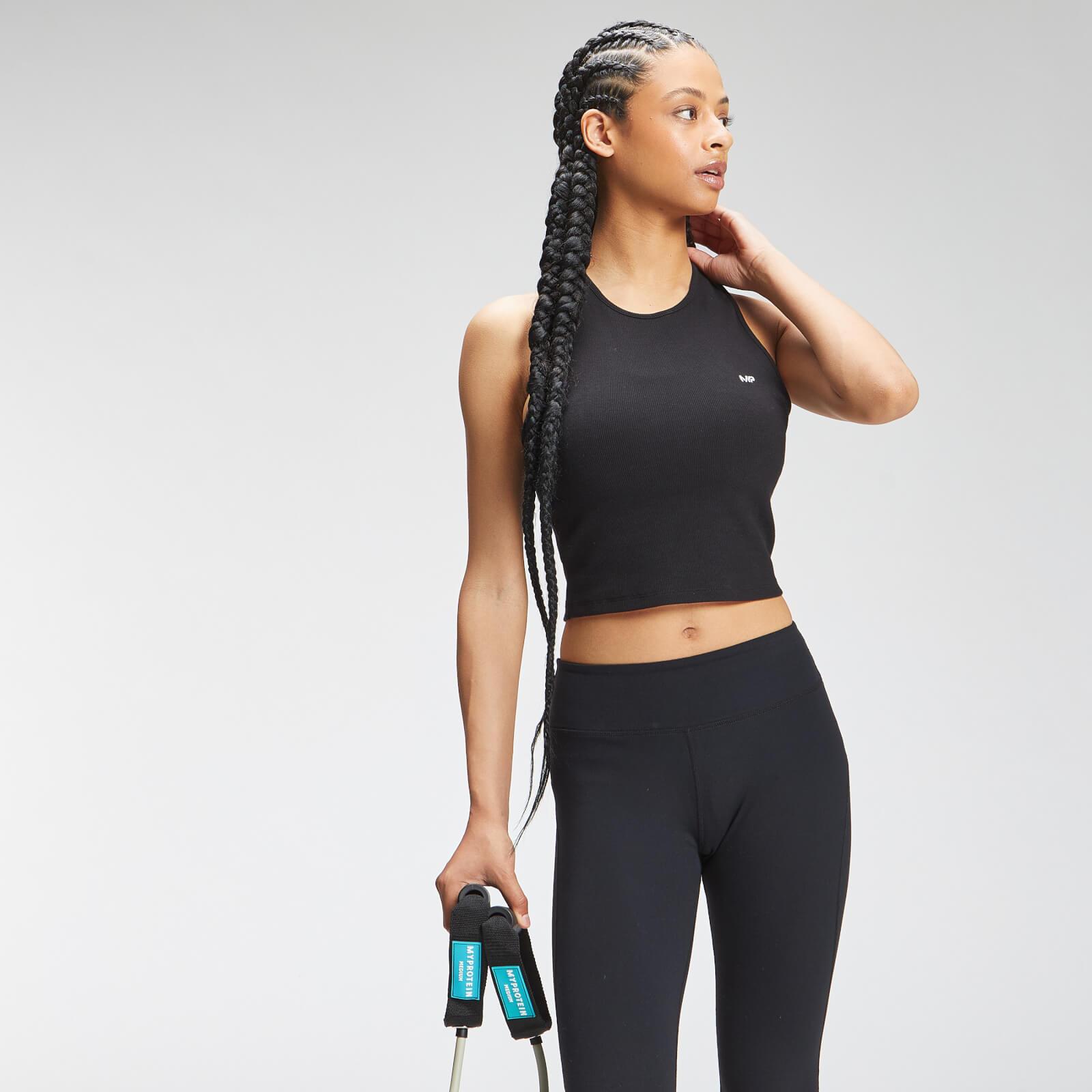 Купить MP Women's Essential Cropped Rib Vest - Black - XL, Myprotein International