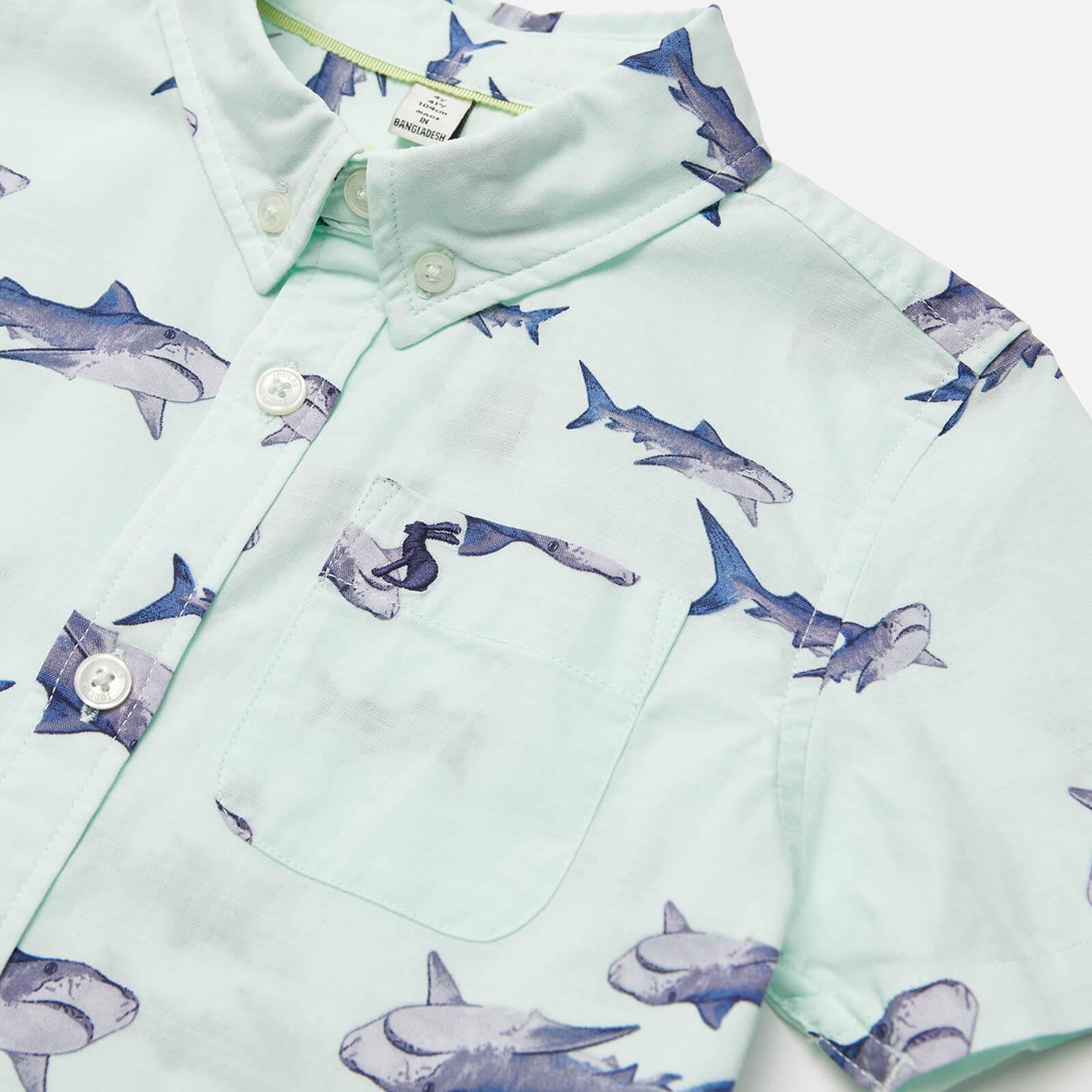 Joules Boys' Sefton Shirt - Green Sharks - 2 Years 211938 Grensharks Childrens Clothing, Green