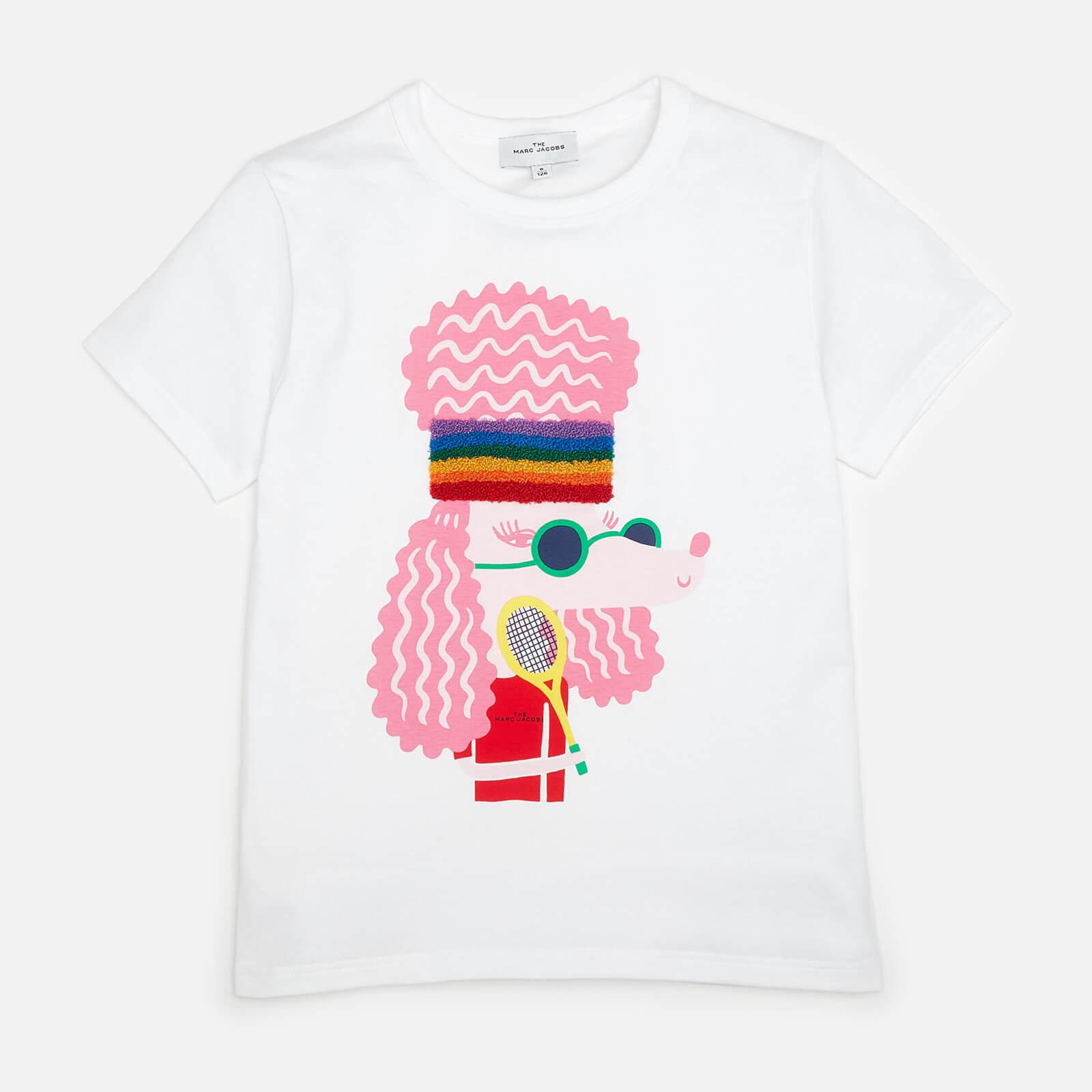 Little Marc Jacobs Girls' Print Short Sleeved T-Shirt - White - 4 Years