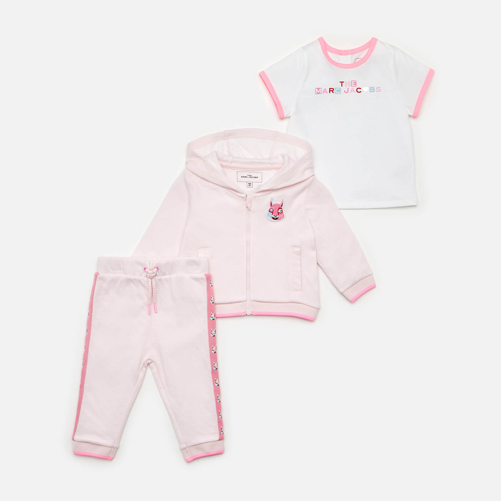 Little Marc Jacobs Baby Girls' Trousers, Jacket And T-Shirt Set - Pink - 12-18 months