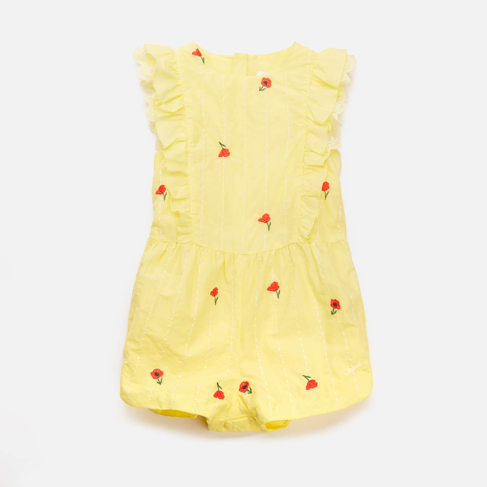 Chloe Girls' Toddlers All In One Romper - Lime - 2 Years