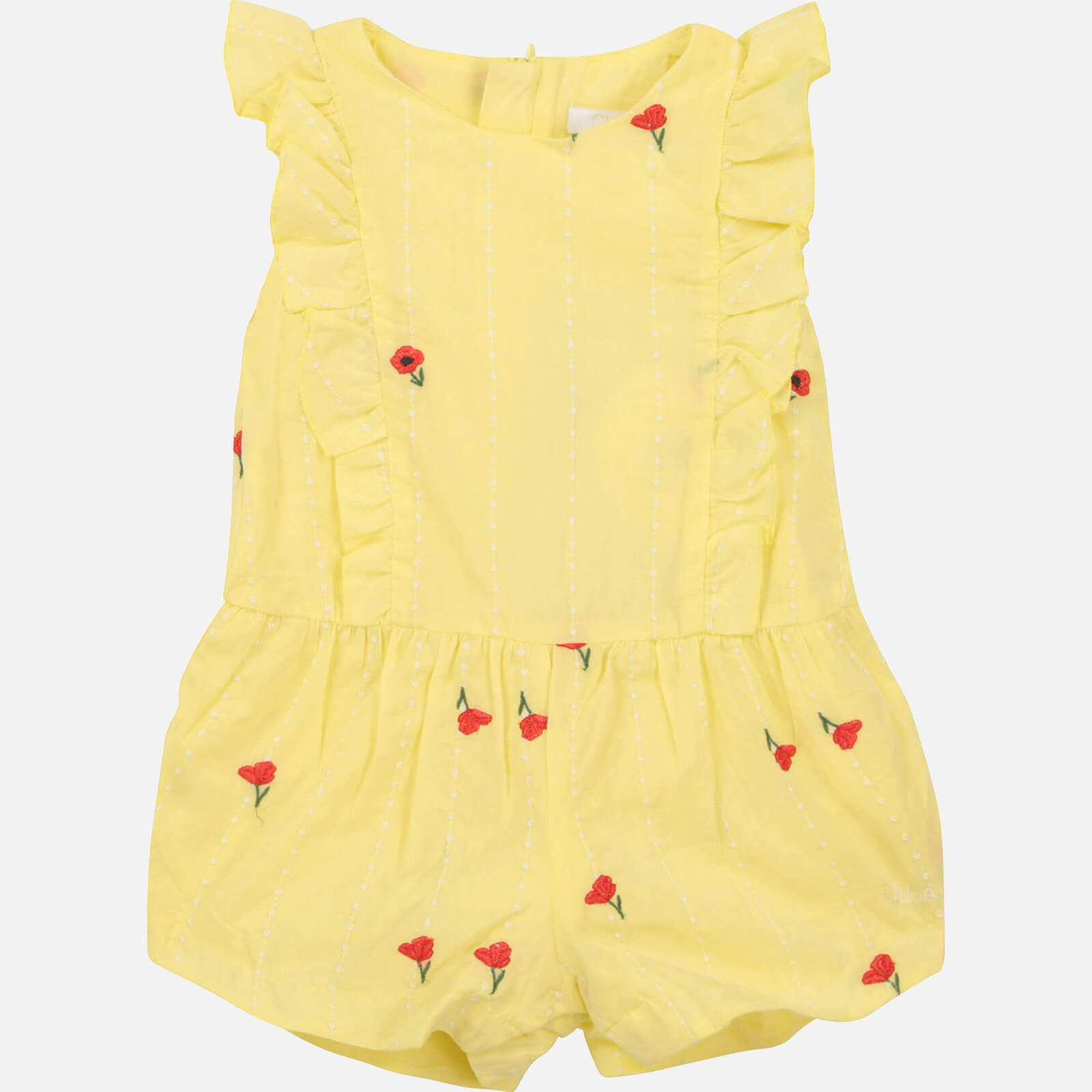 Chloe Girls' Toddlers All In One Romper - Lime - 9-12 months