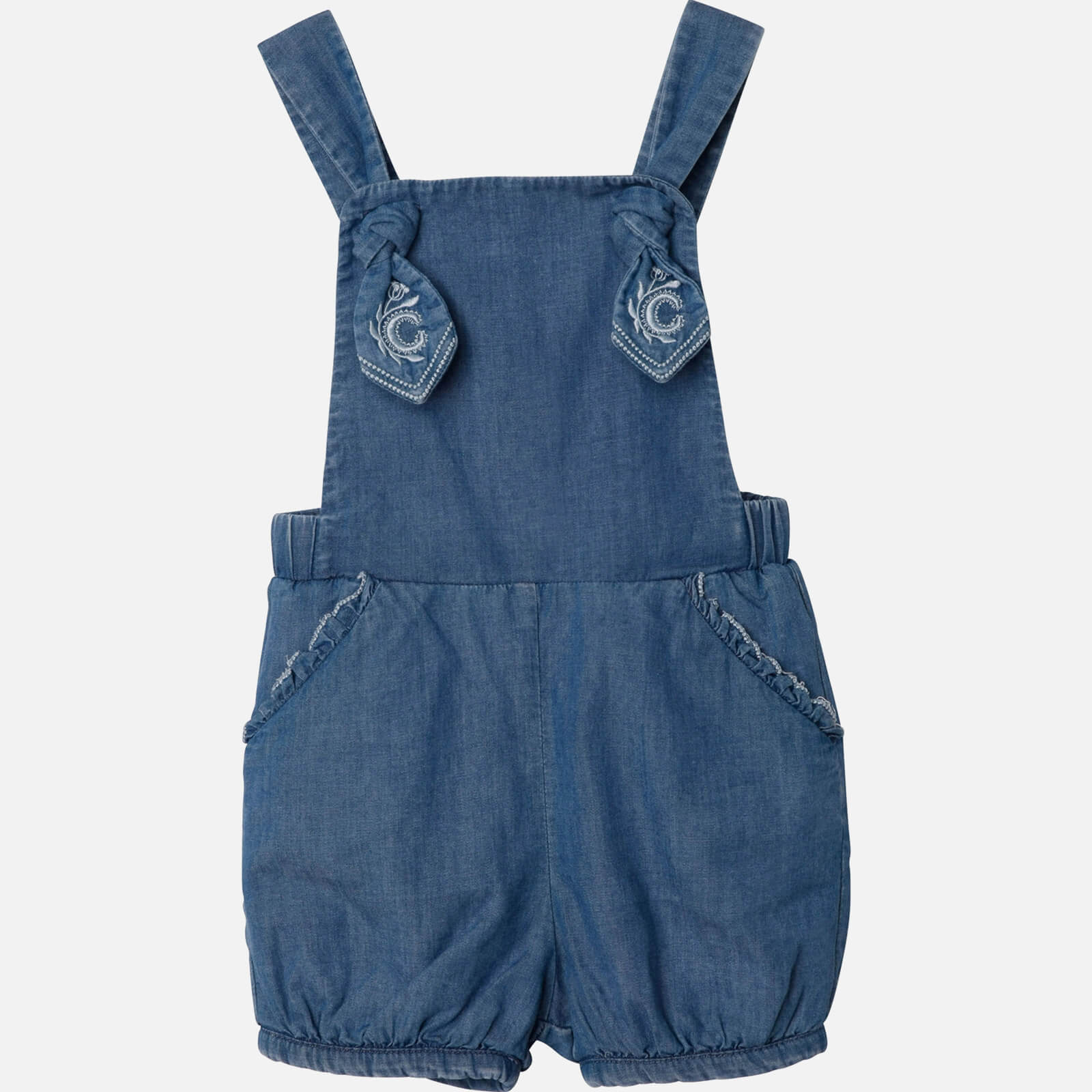 Chloe Girls' Toddlers All In One Romper - Denim Blue - 2 Years