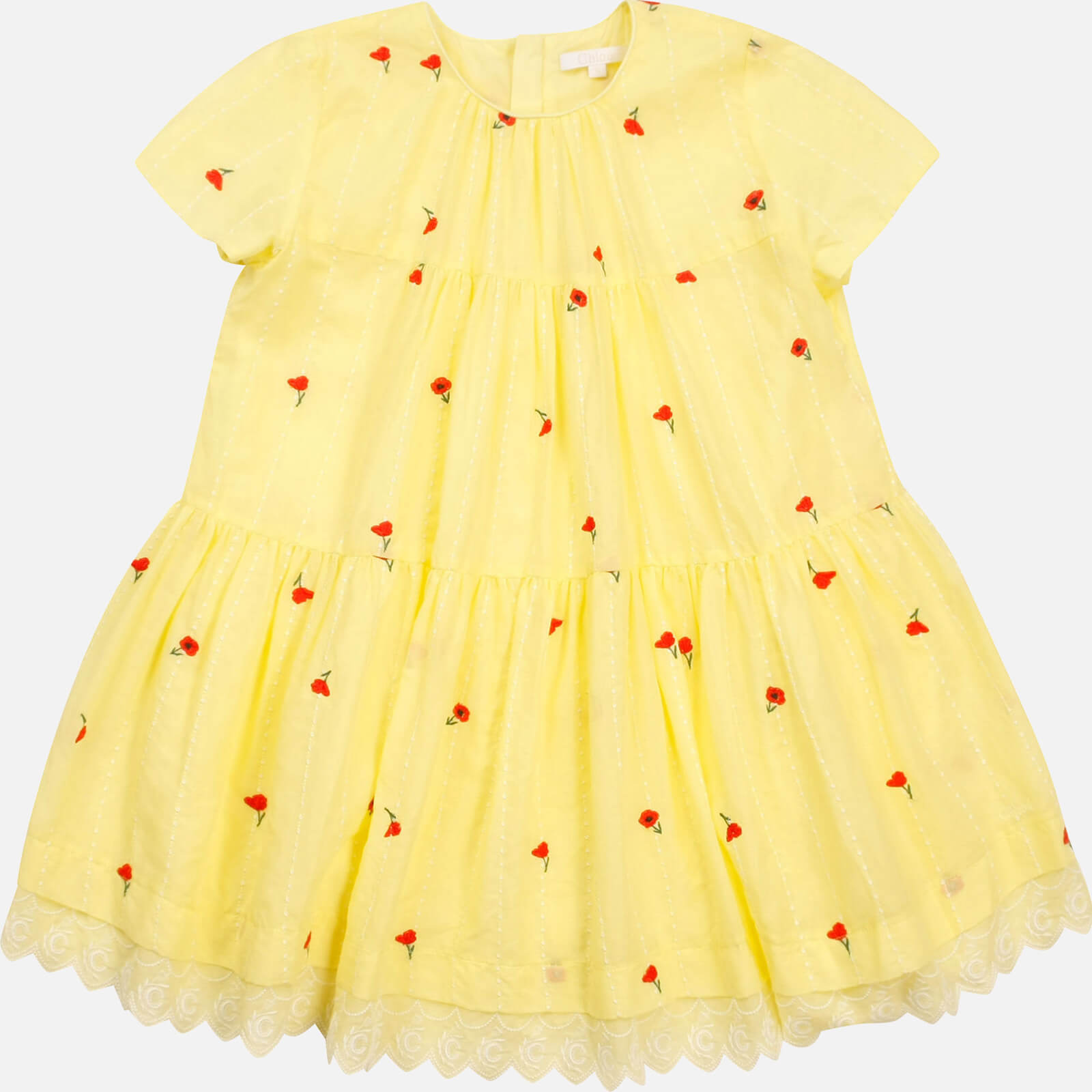 Chloe Girls' Flare Dress - Lime - 6 Years