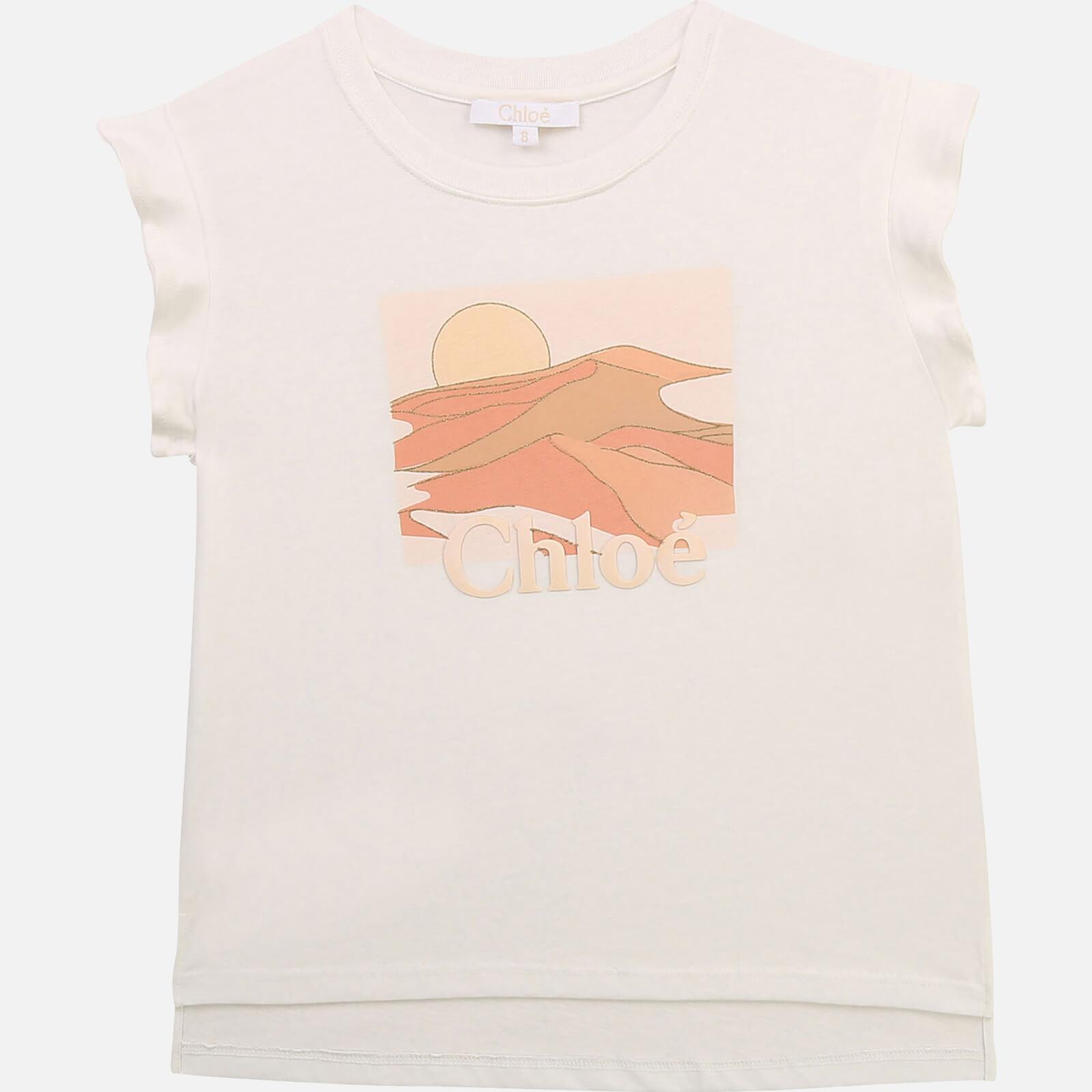 Chloé Girls' Print T-Shirt - Off White - 5 Years