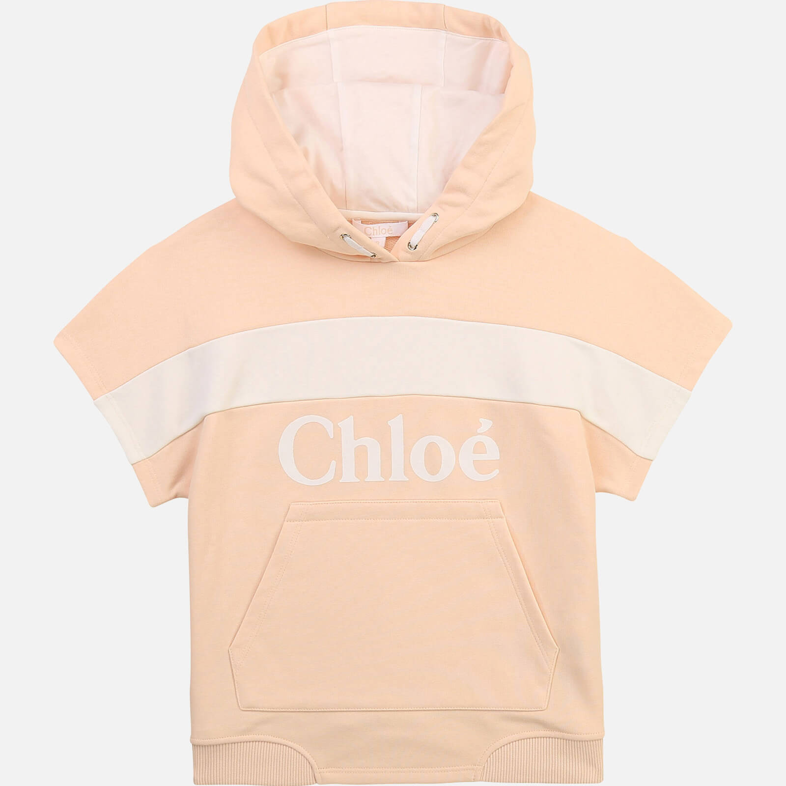 Chloe Girls' Hooded Stripe Sweatshirt - Pale Pink - 6 Years