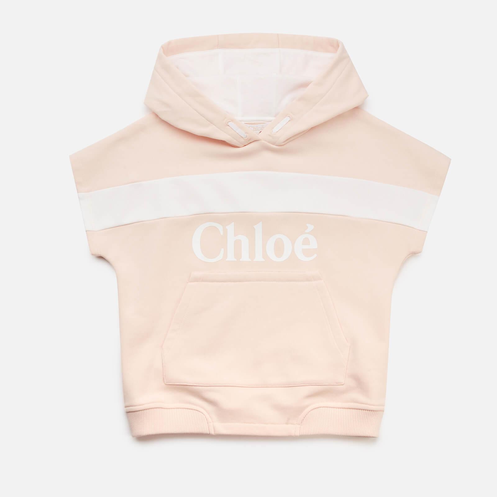 Chloe Girls' Hooded Stripe Sweatshirt - Pale Pink - 8 Years