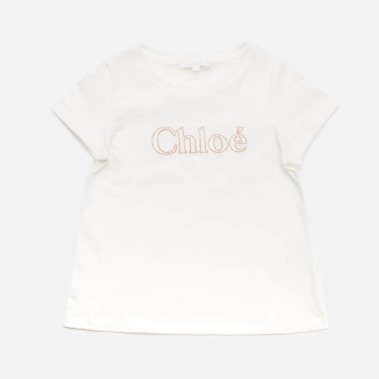 Chloe Girls' Logo T-Shirt - Off White - 4 Years