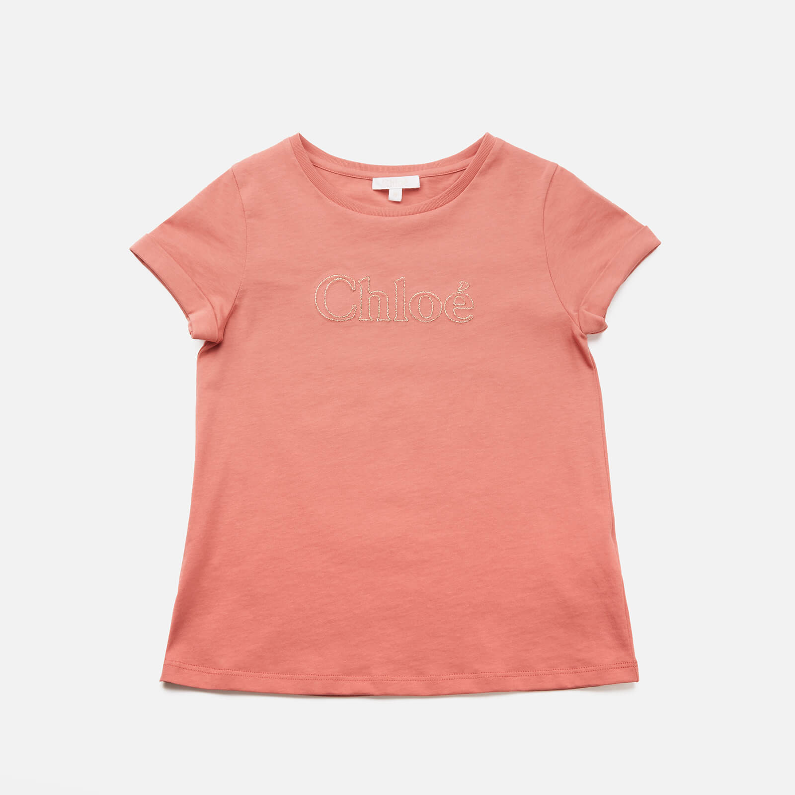 Chloe Girls' Logo T-Shirt - Brick - 10 Years