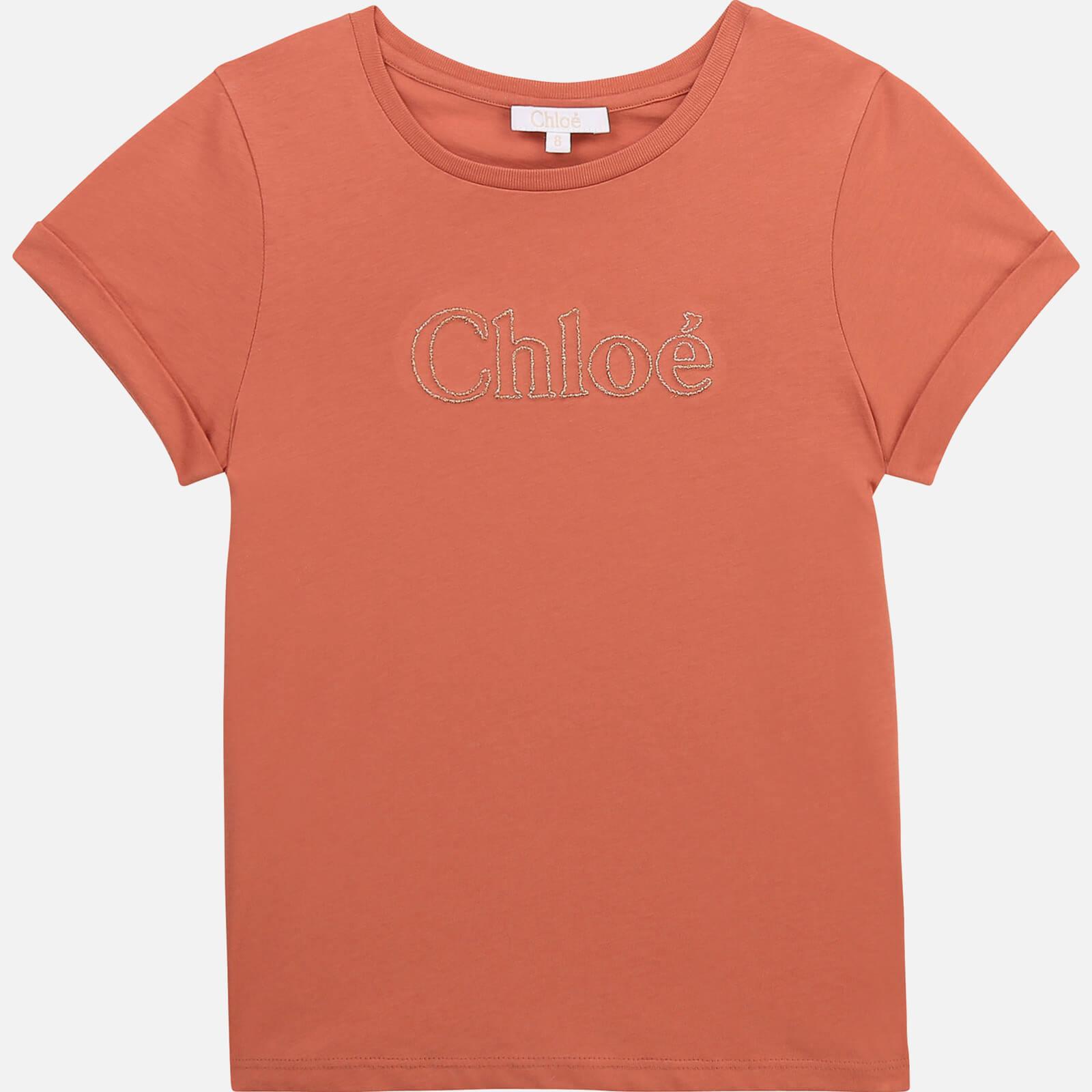 Chloe Girls' Logo T-Shirt - Brick - 4 Years