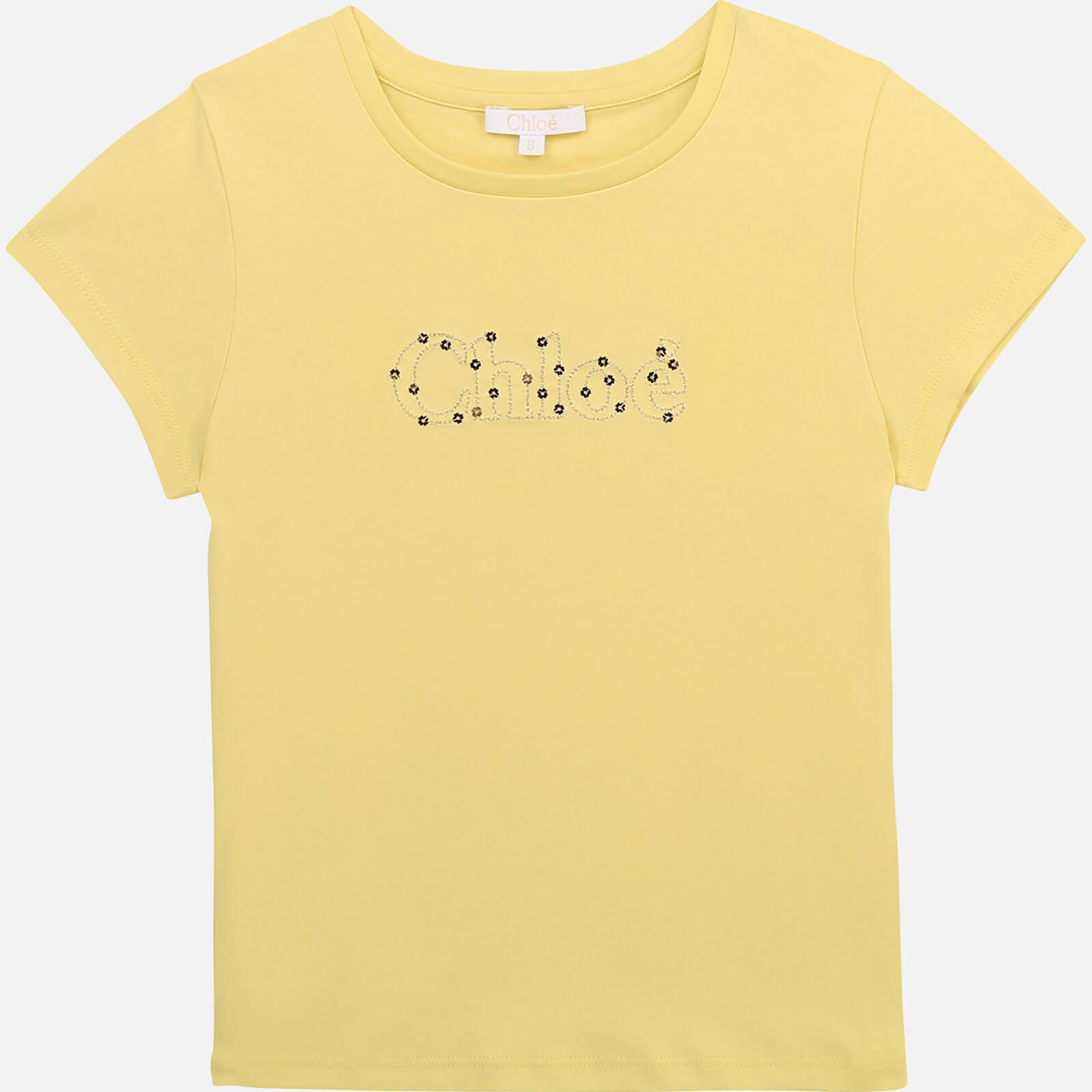 Chloé Girls' T-Shirt - Lime - 4 Years