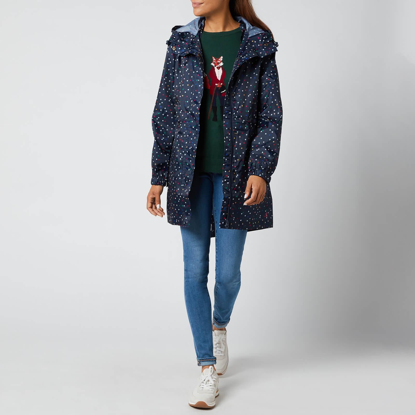 Joules Women's Golightly Packable Jacket - Multi Spot - Uk 8