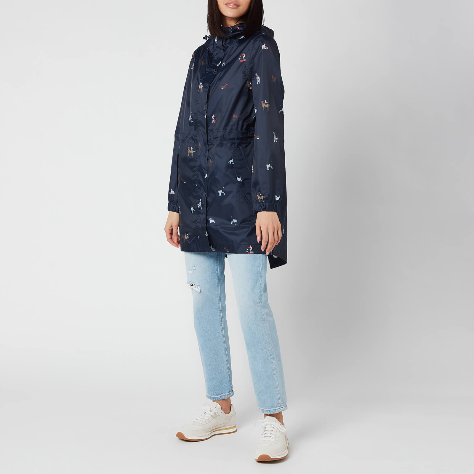 Joules Women's Golightly Packable Jacket - Navy Dog - Uk 8
