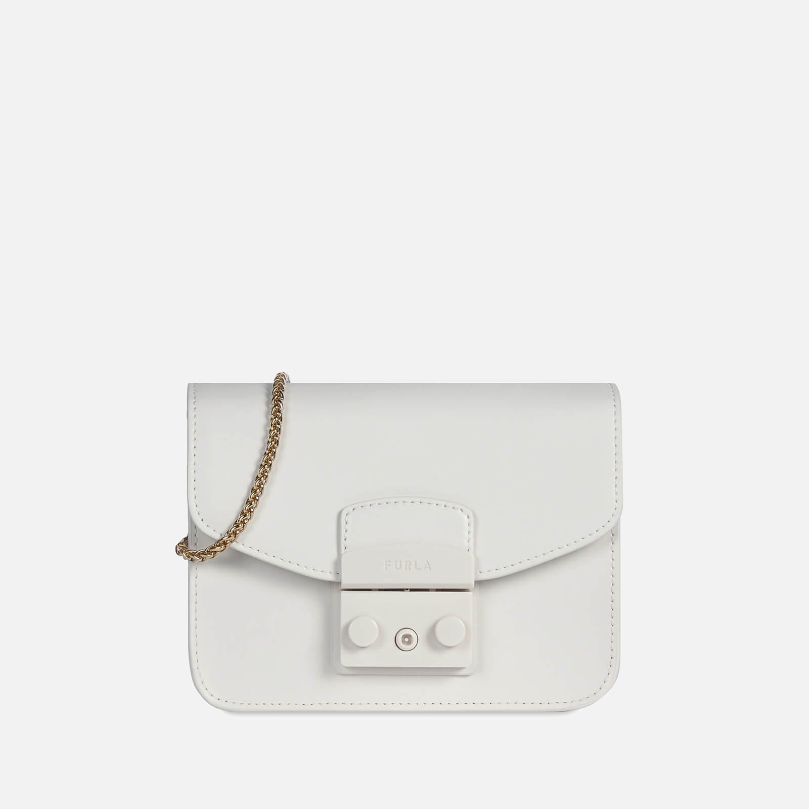 furla women's metropolis mini cross body bag - talco