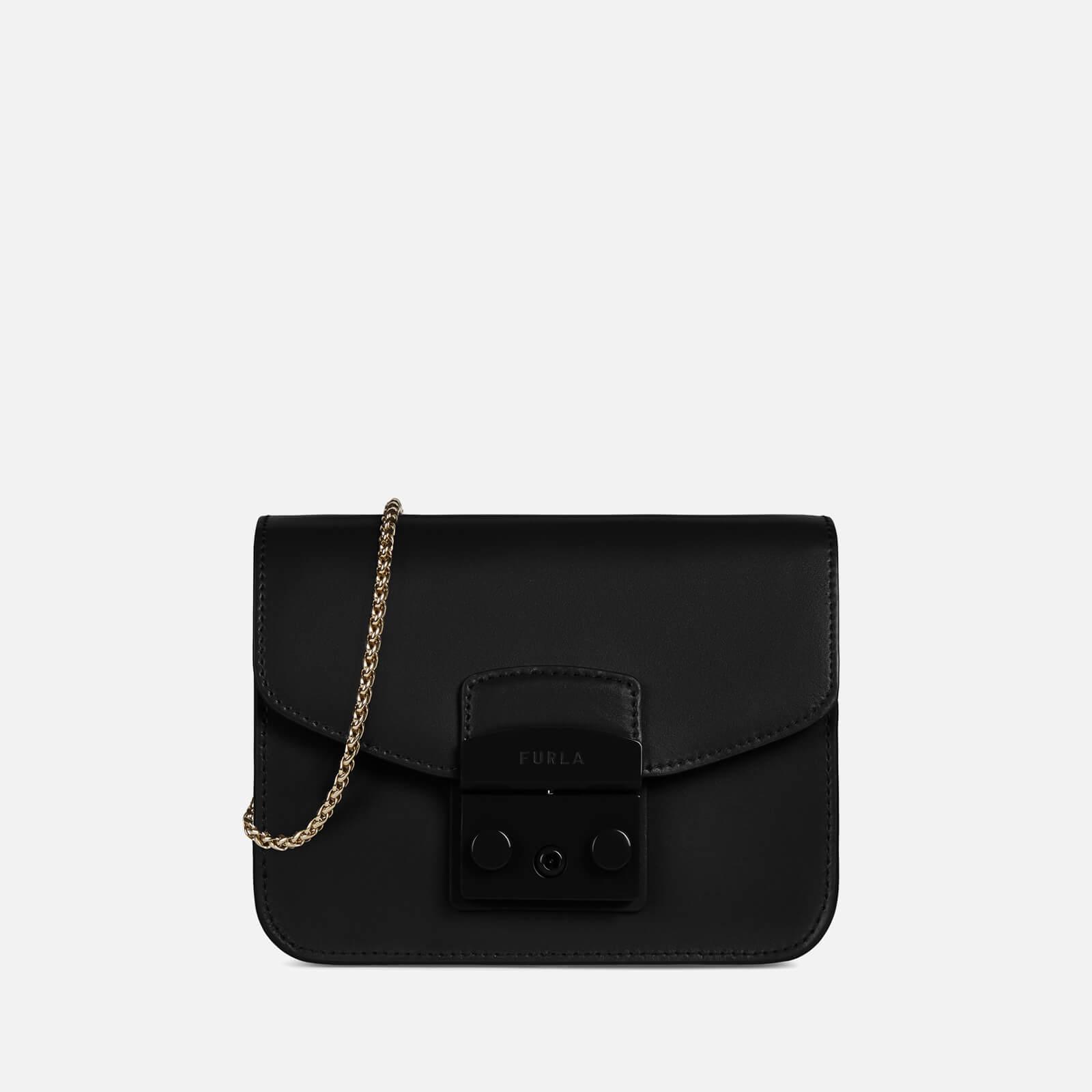 furla women's metropolis mini cross body bag - black