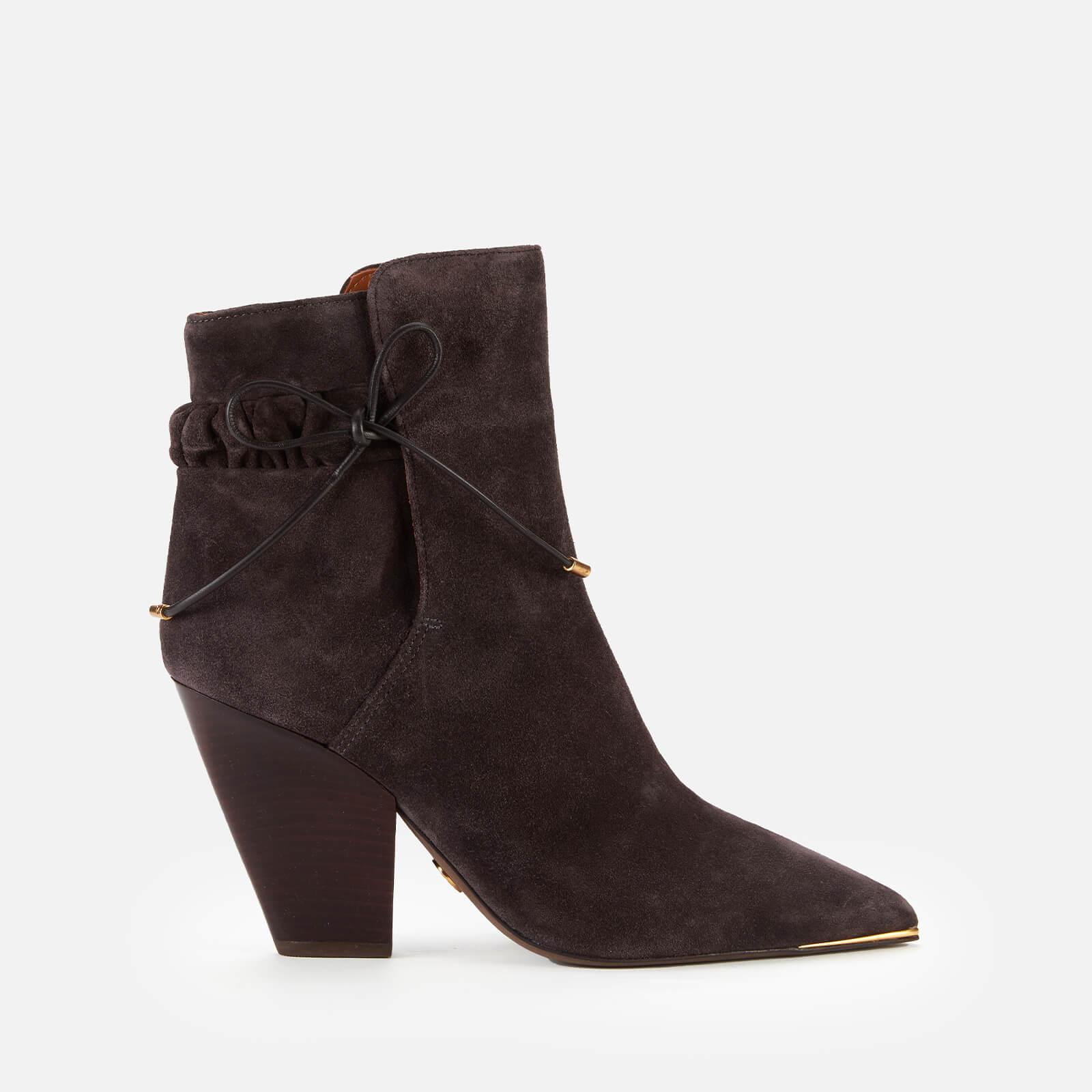 Tory Burch Women's Lila Suede Heeled Boots - Grey - 3