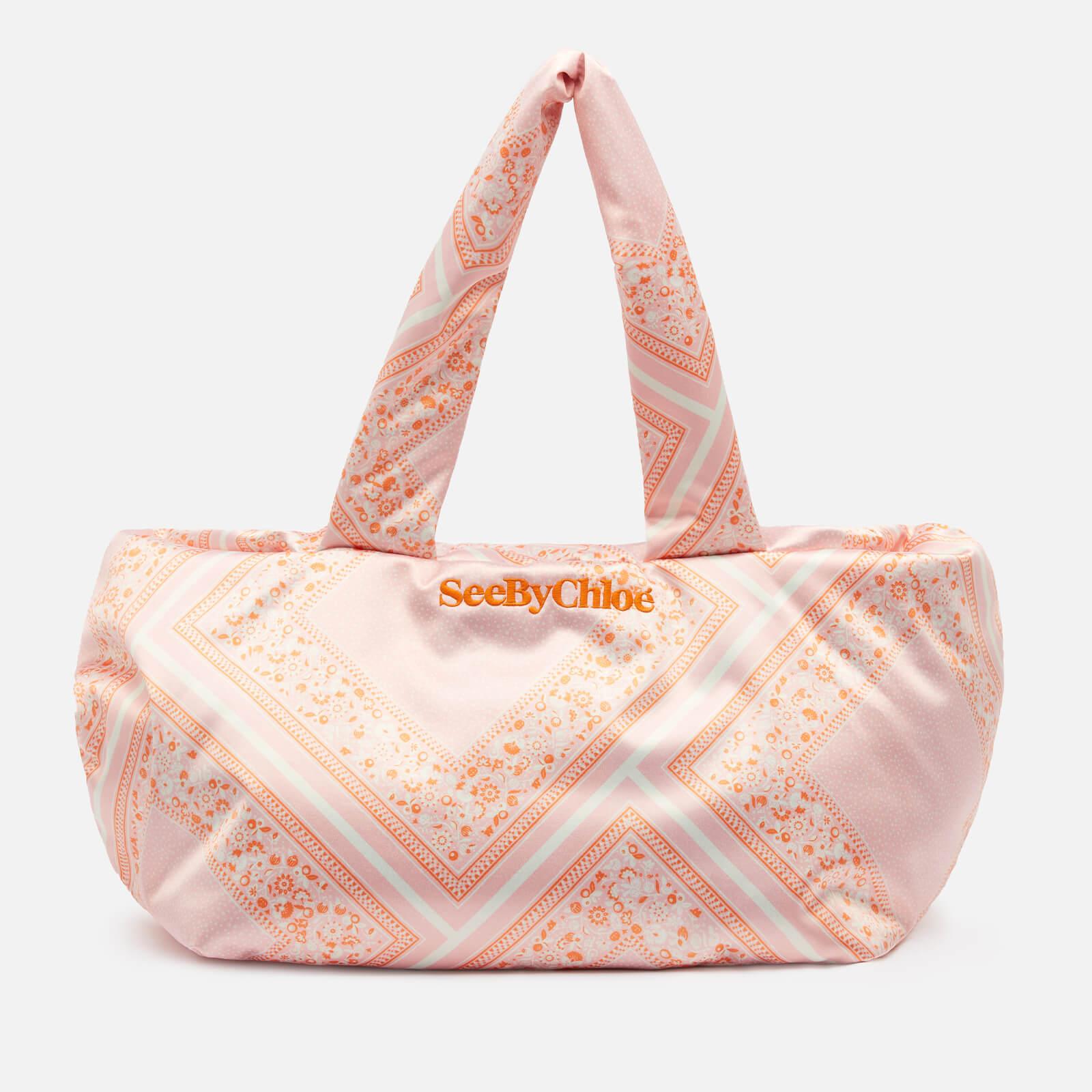See by Chloé Women's Tilly Bandana Print Tote Bag - Fallow Pink