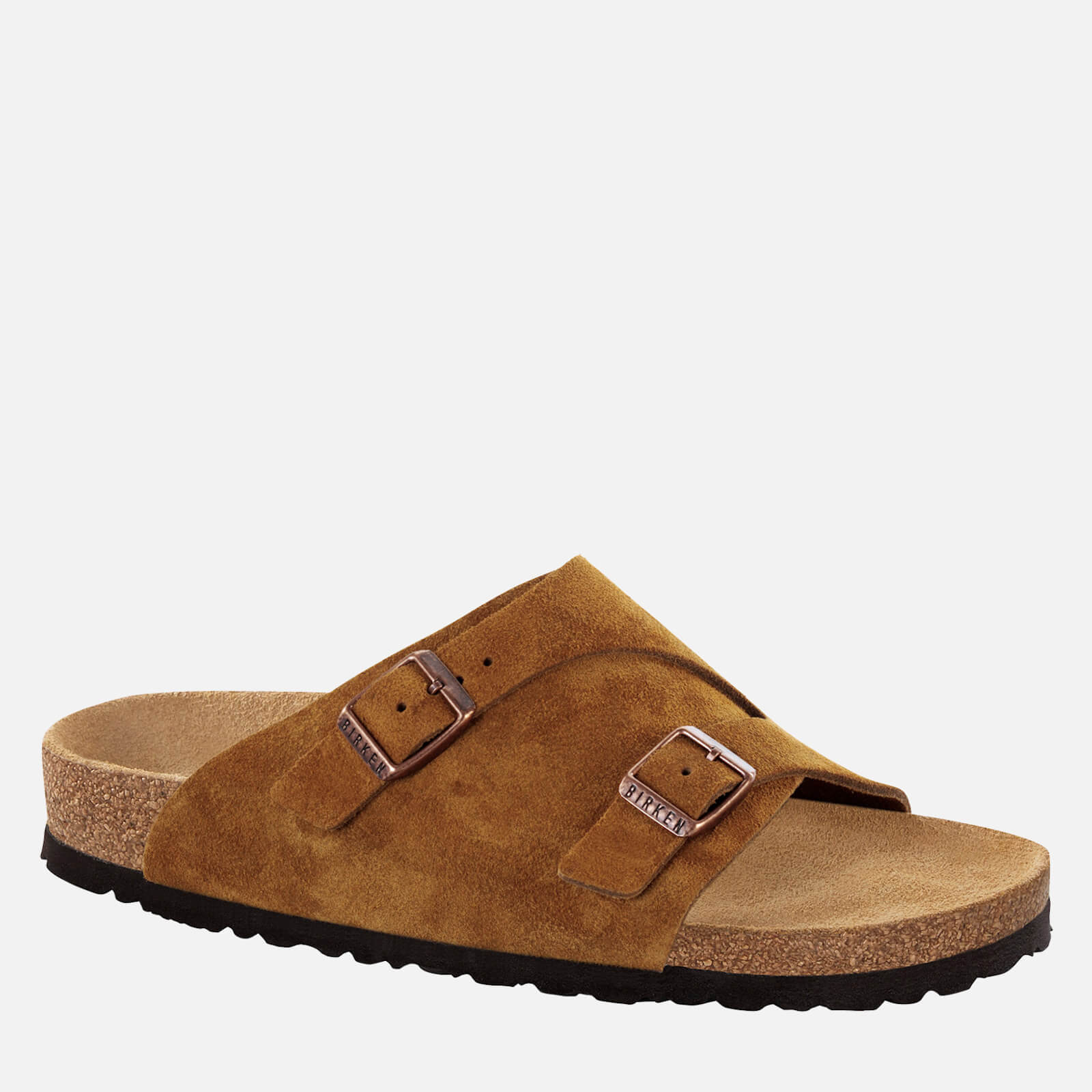 Birkenstock Mens Zurich Sfb Suede Slide Sandals Mink Eu 44 Uk 95