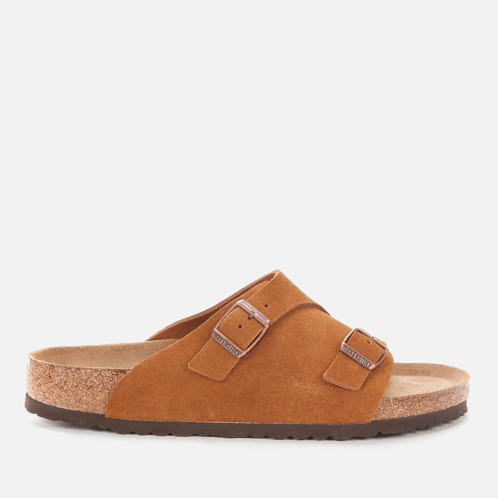 Birkenstock Mens Zurich Sfb Suede Slide Sandals Mink Eu 42 Uk 8
