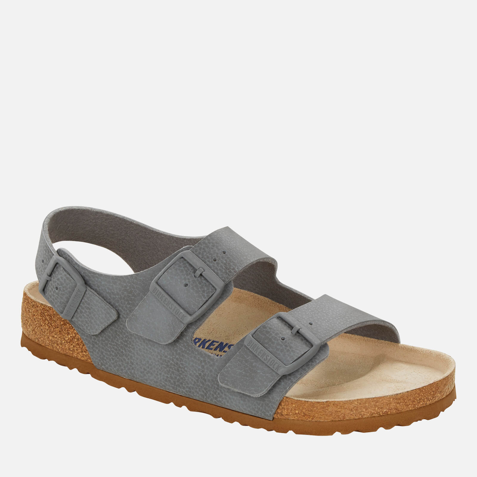 Birkenstock Mens Milano Double Strap Sandals Desert Soil Grey Eu 40 Uk 7
