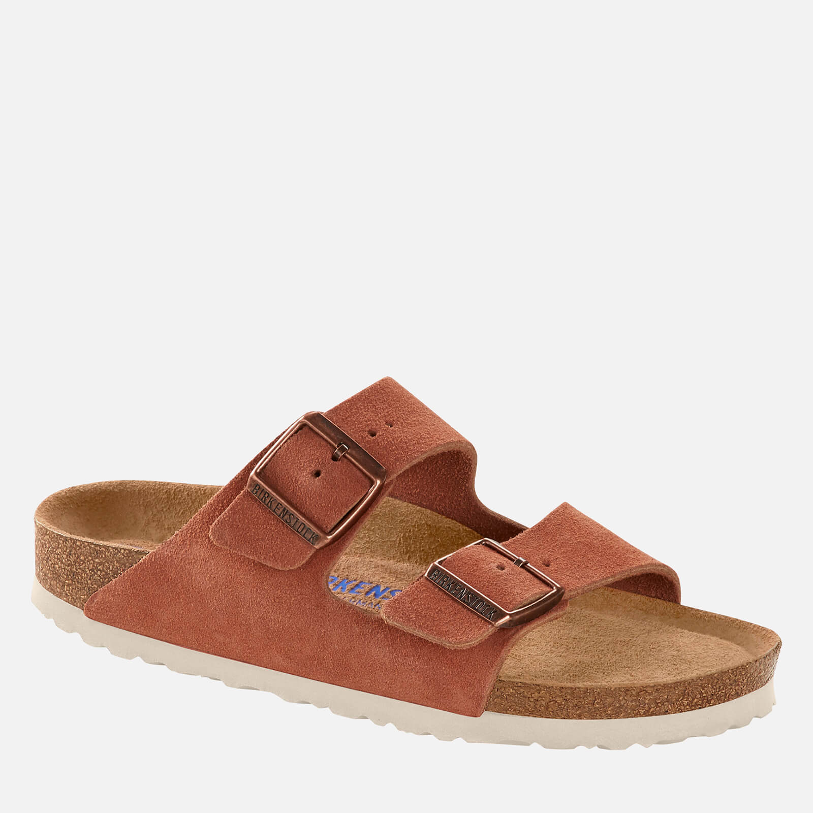 Birkenstock Womens Arizona Sfb Suede Double Strap Sandals Earth Red Eu 40 Uk 7