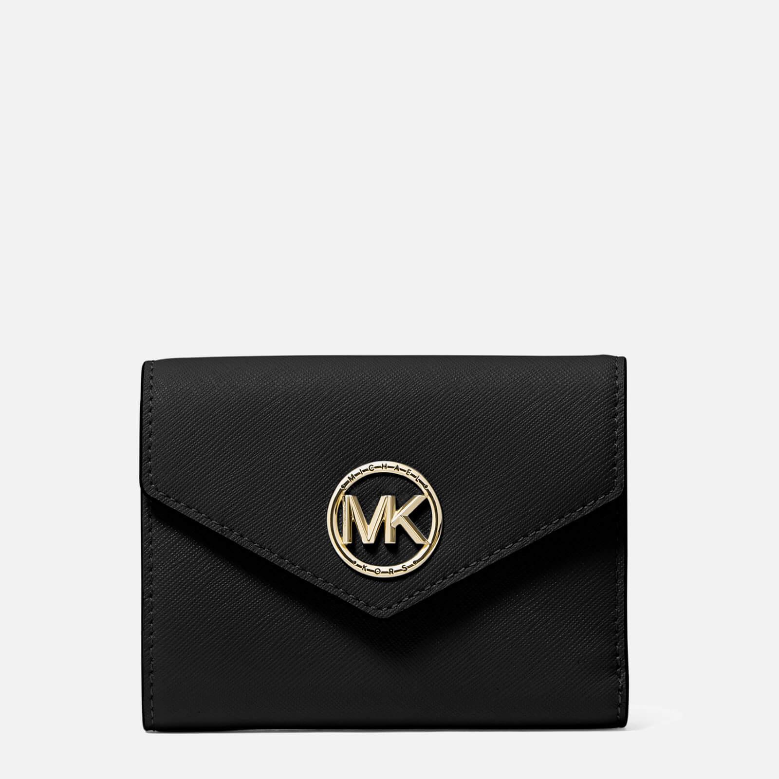 MICHAEL Michael Kors Women's Carmen Medium Trifold Wallet - Black