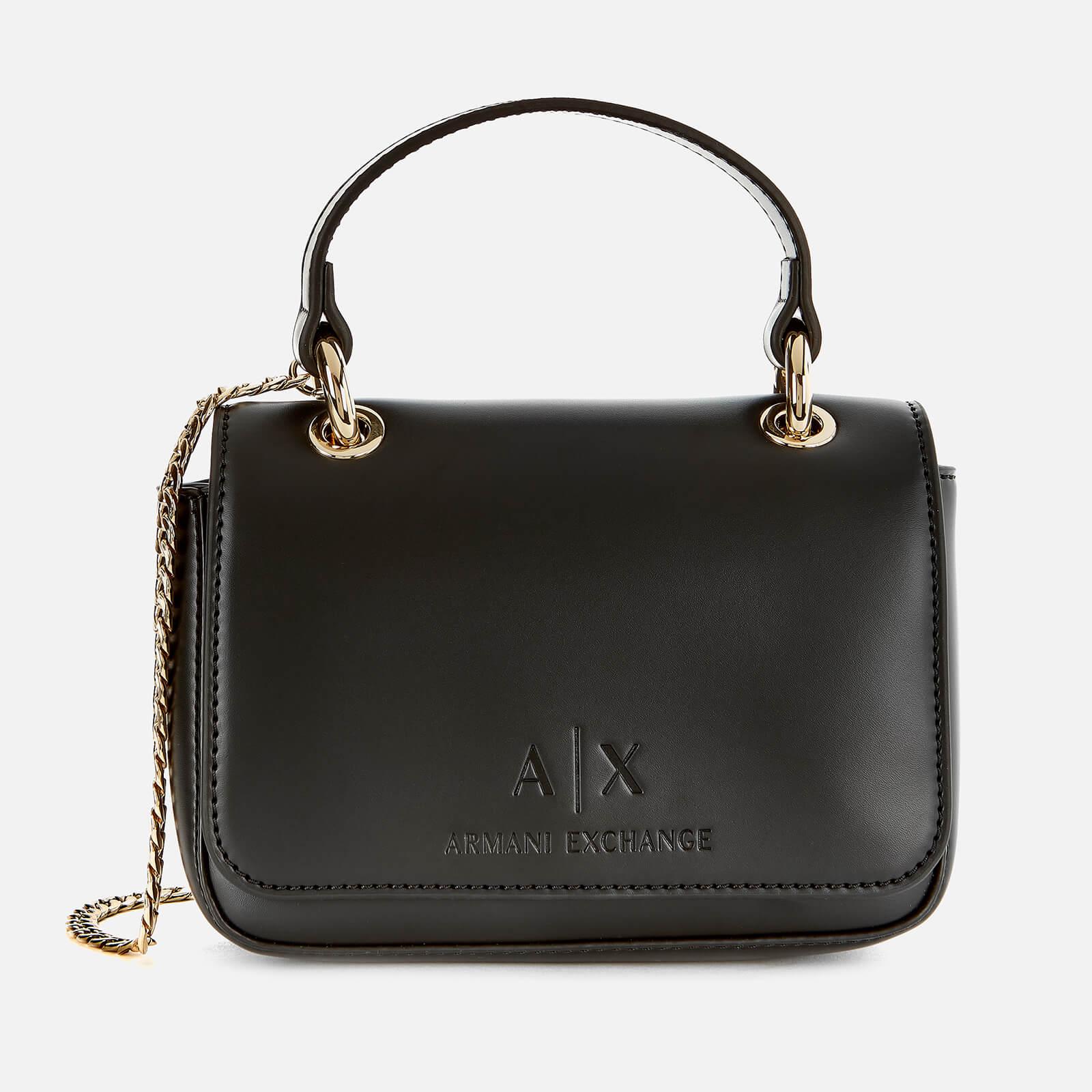 armani exchange women's small cross body bag - black