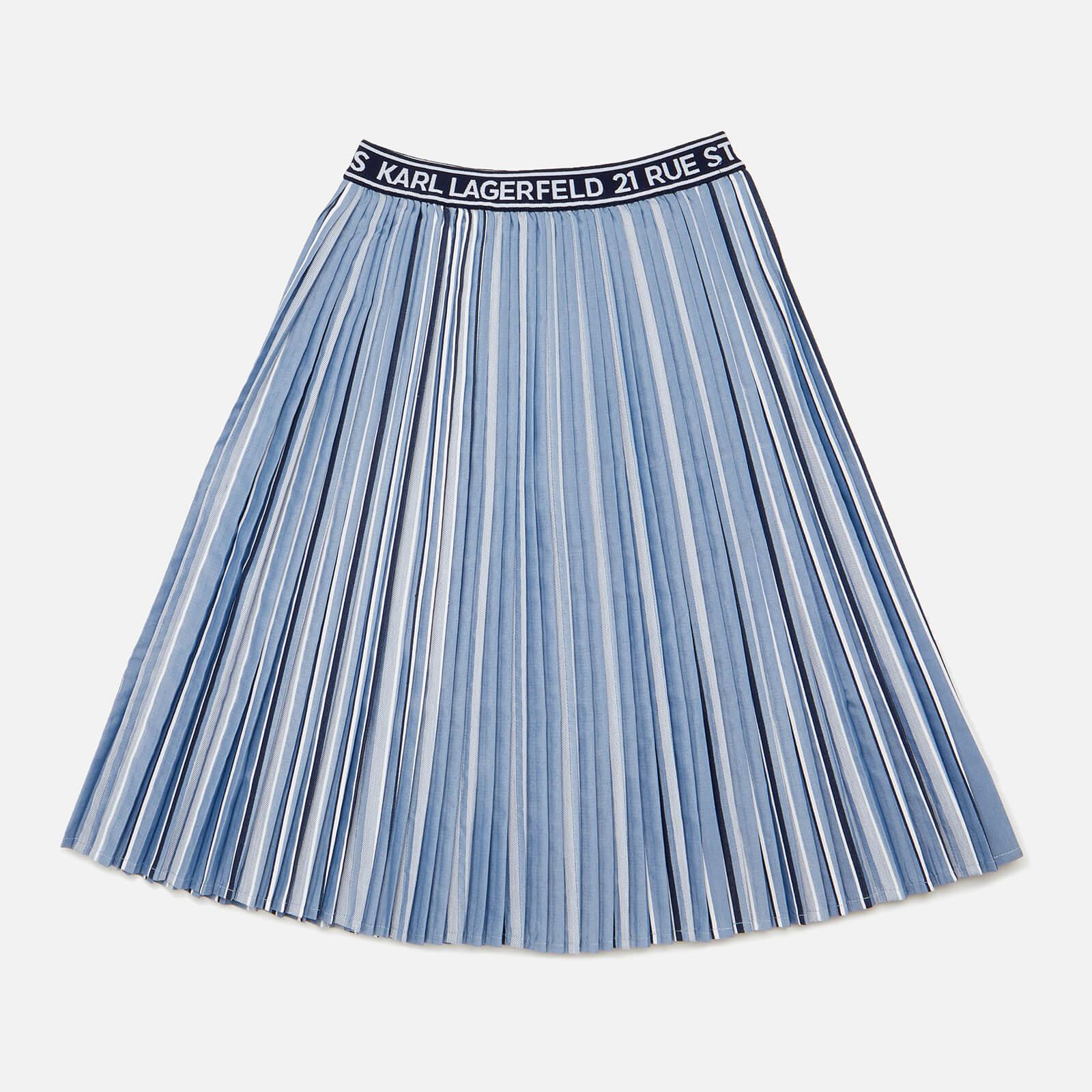Karl Lagerfeld Girls' Pleat Skirt - Metallic - 6 Years