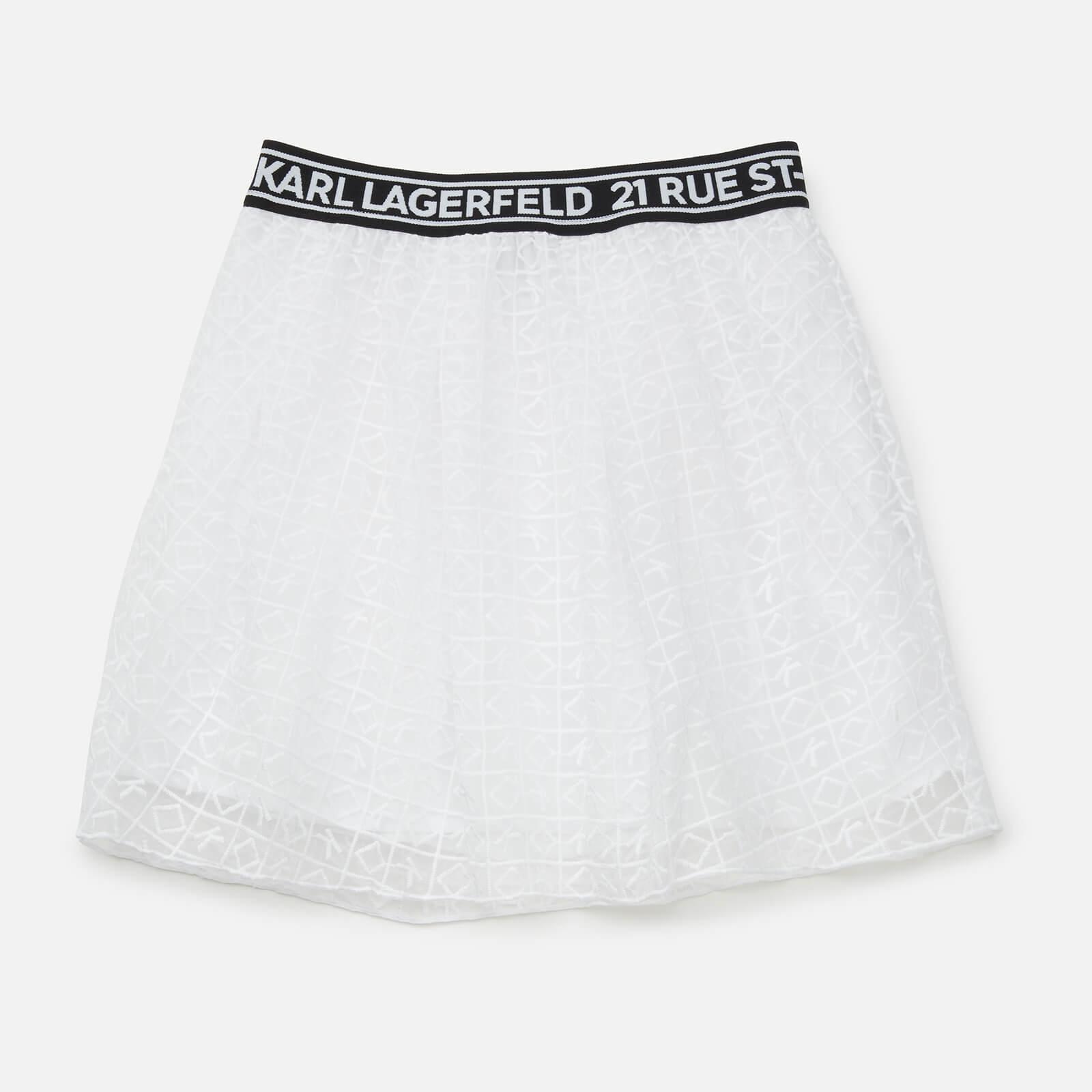 KARL LAGERFELD Girls' Logo Waist Mini Skirt - 8 Years