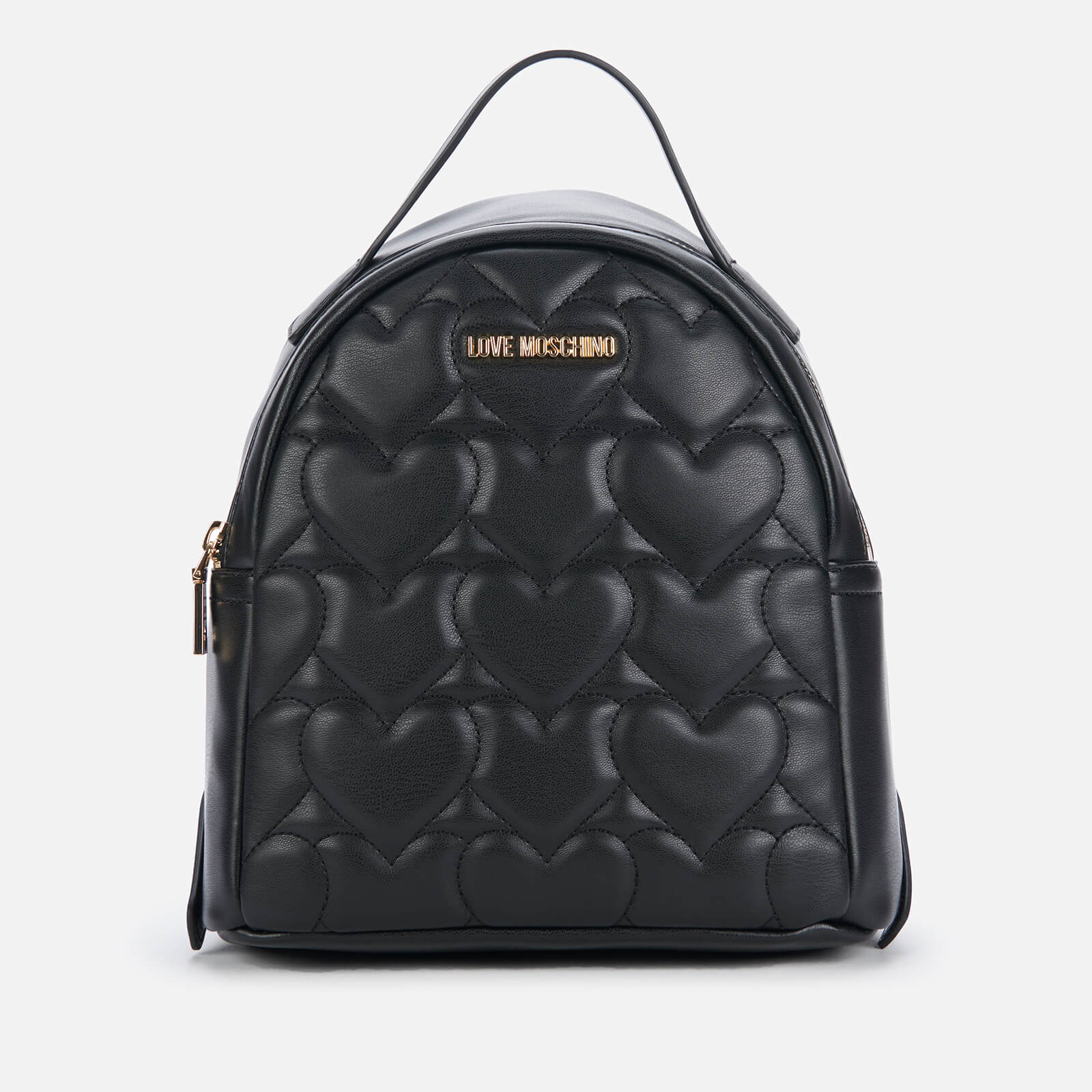 Love Moschino Women's Heart Quilt Backpack - Black