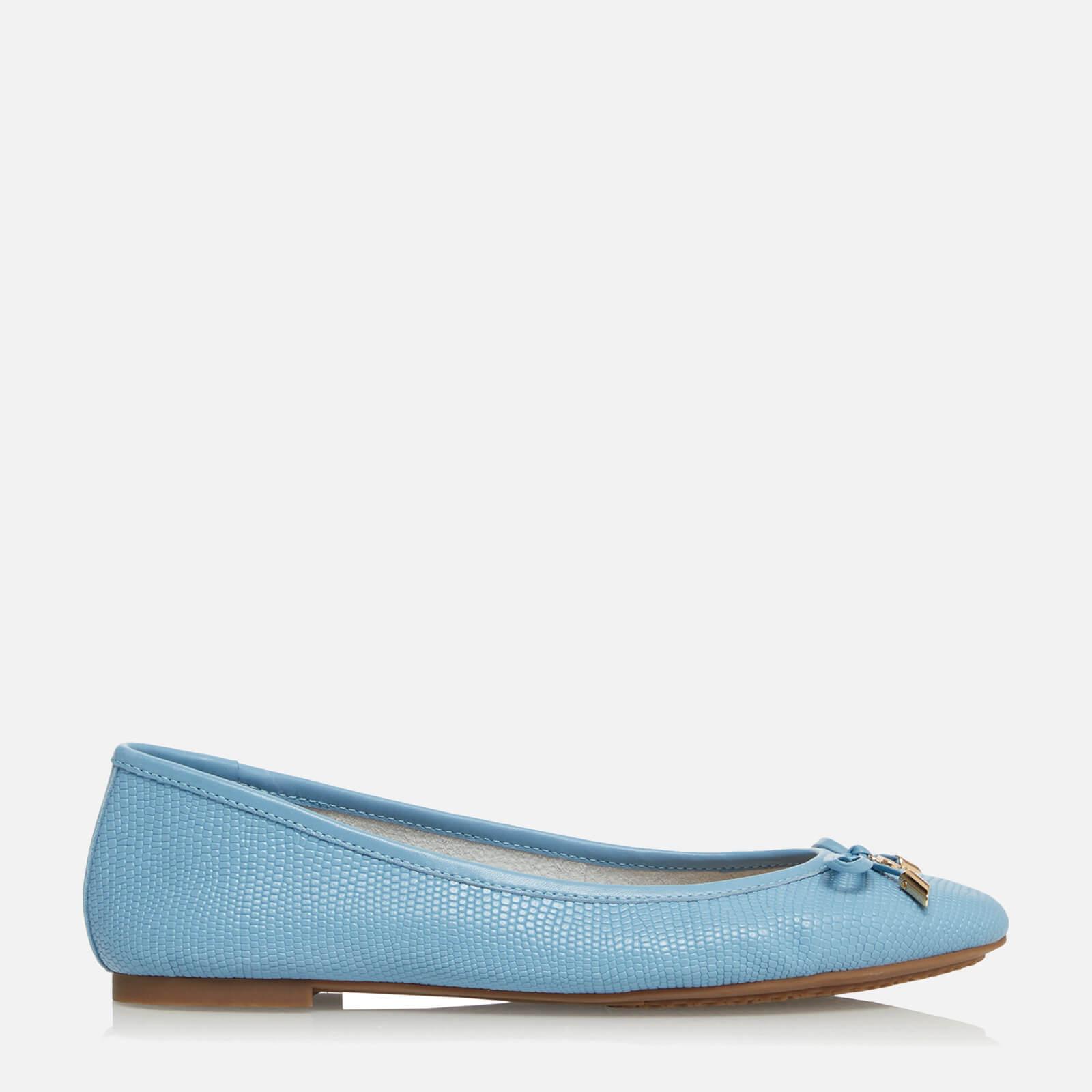 Dune Women's Harpar 2 Leather Ballet Flats - Blue/Leather - UK 8