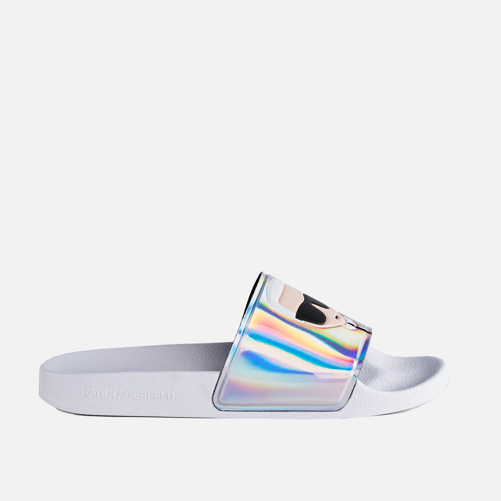 Karl Lagerfeld Womens Kondo Ii Slide Sandals Iridescent Uk 5